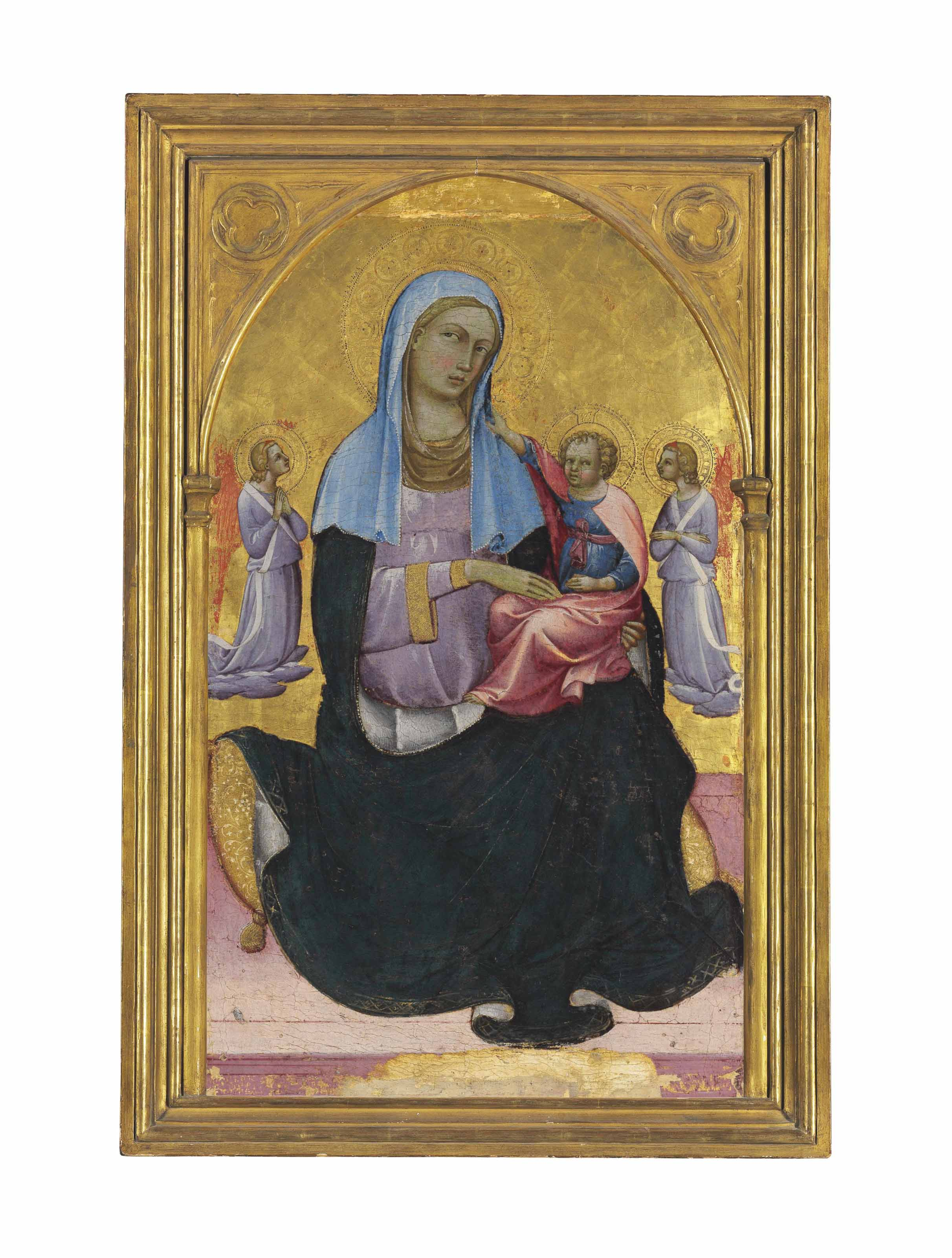 The Madonna of Humility with adoring angels