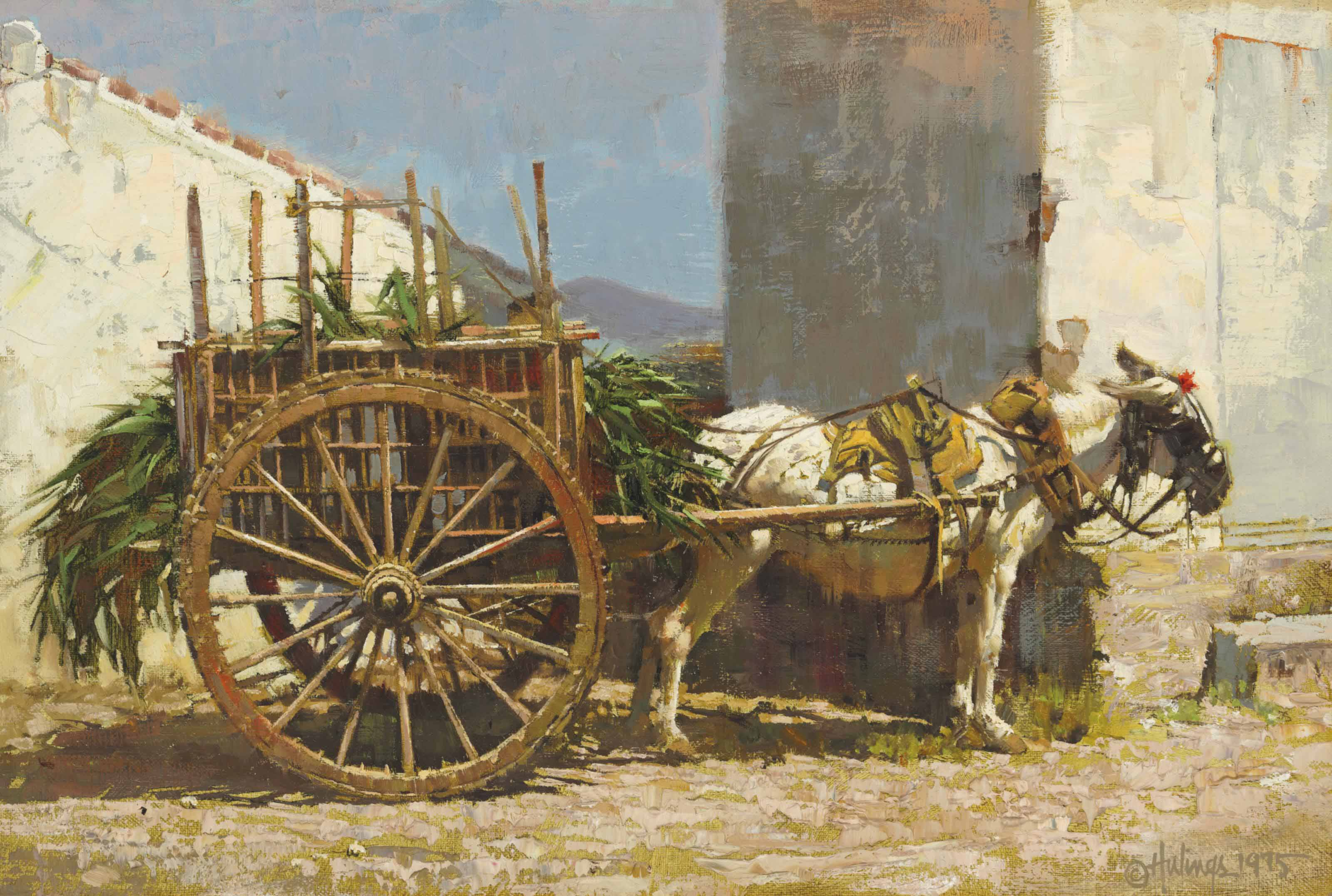 Burro with Cart