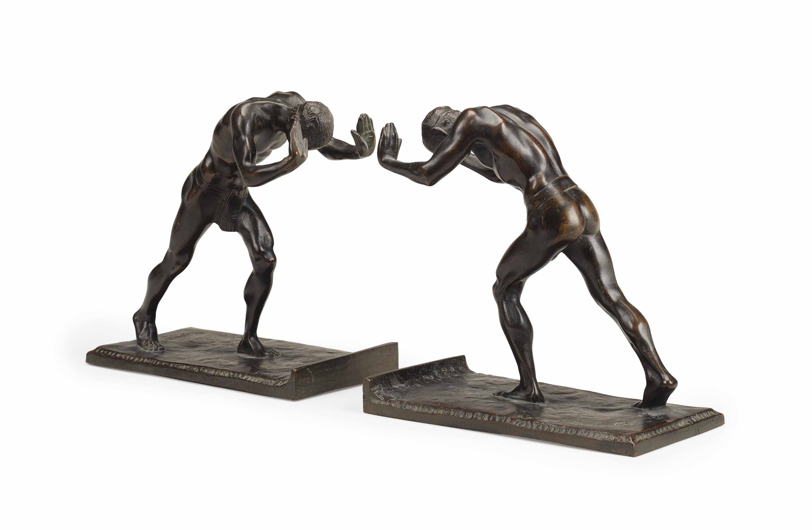 'Pushing Men': A Pair of Bookends