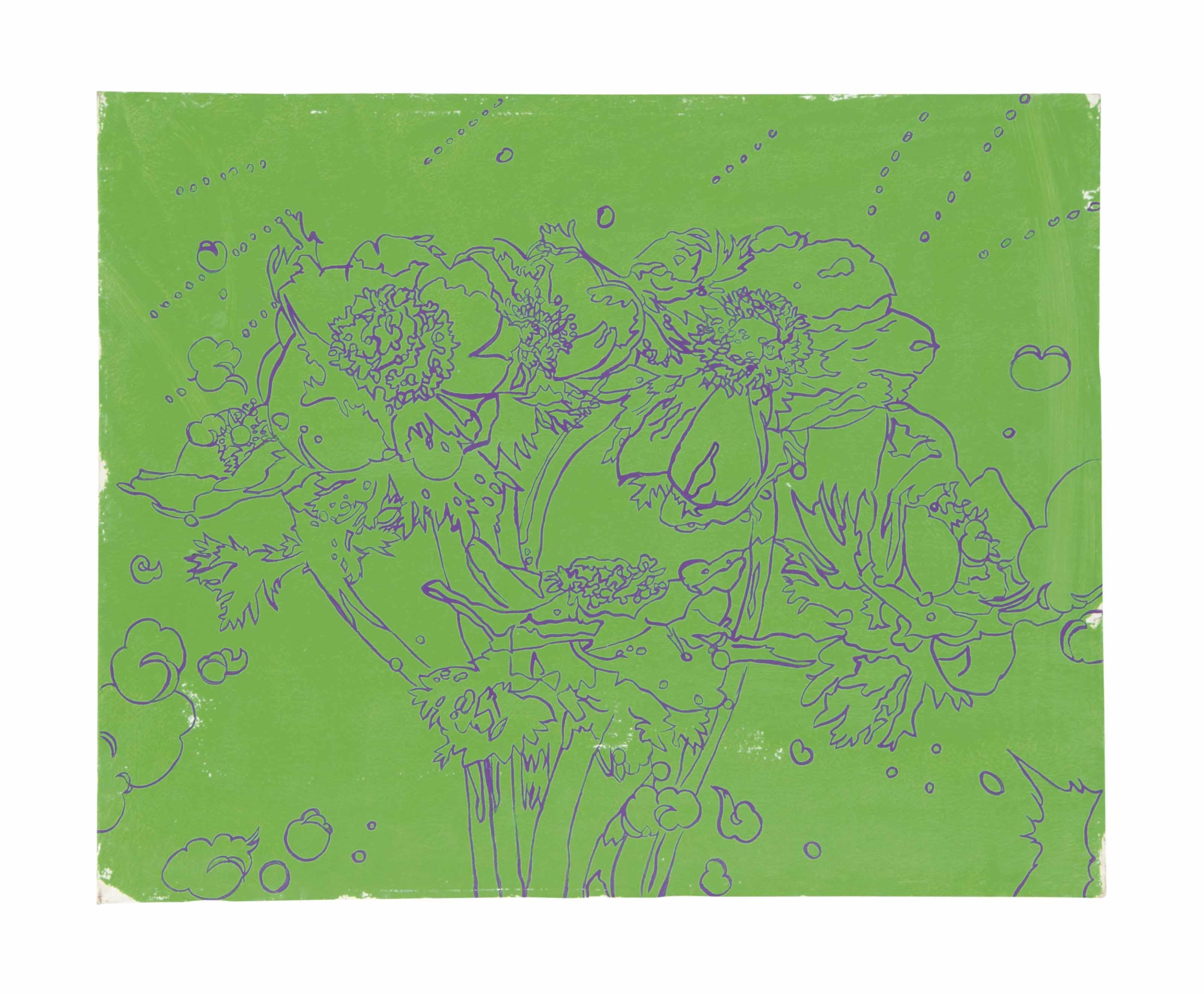Flores sabre verde