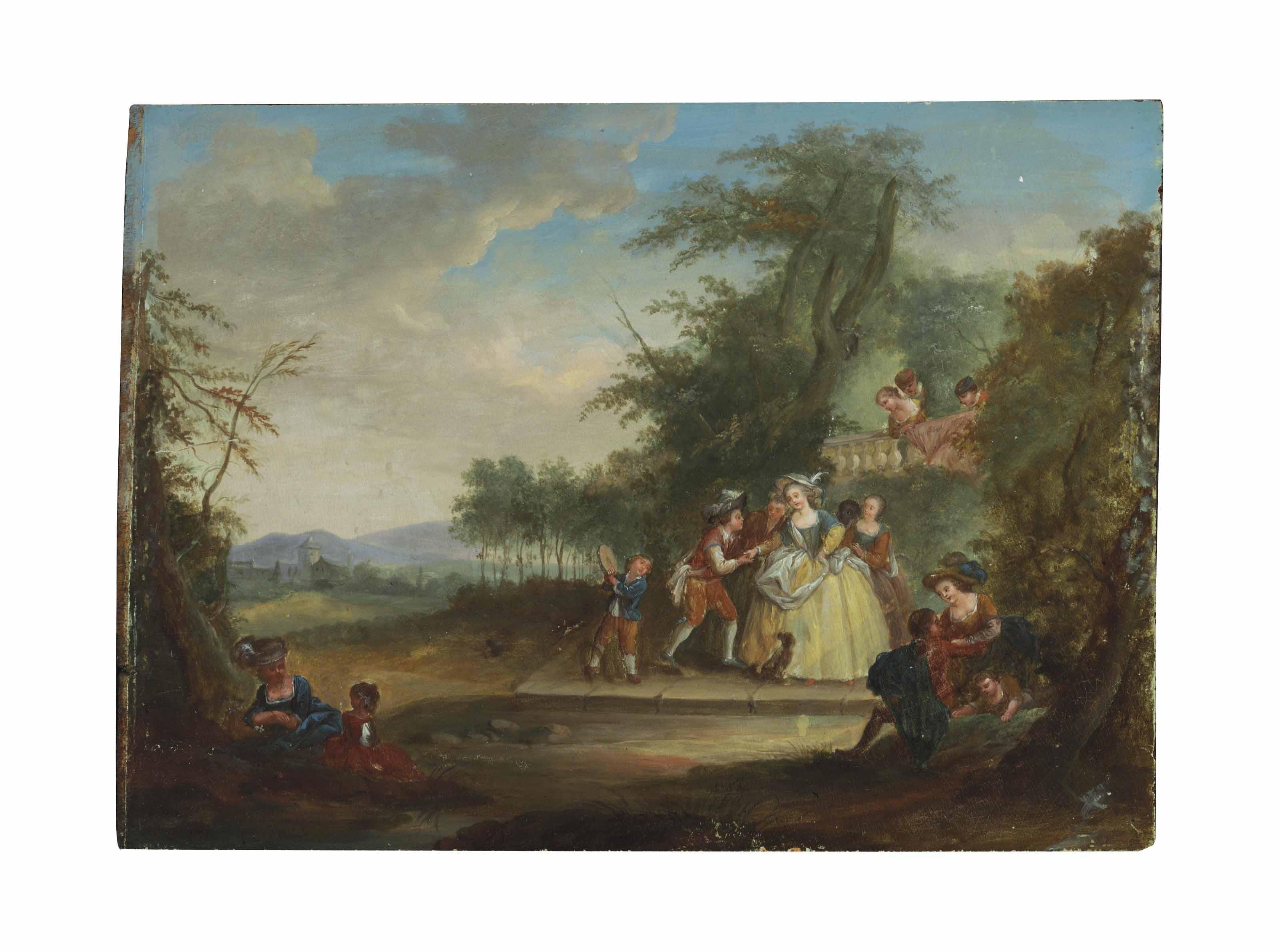 Fêtes Champêtres; and a companion painting