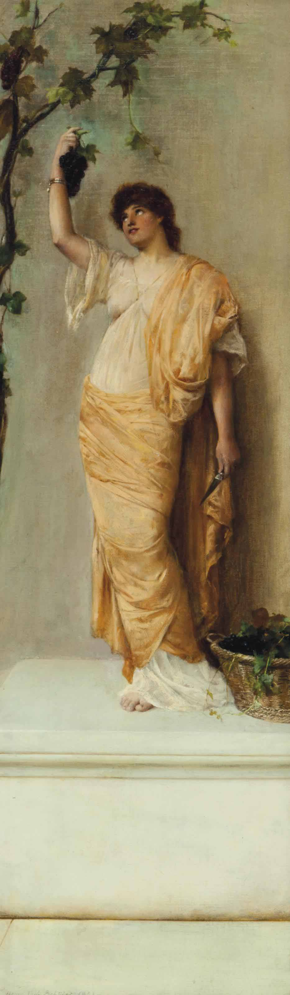Lady with grapes