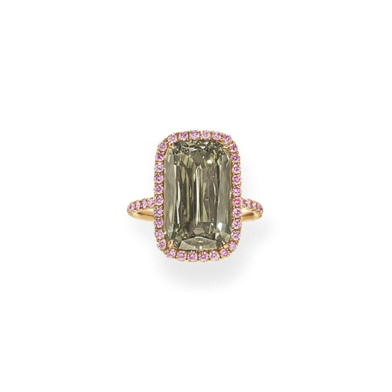 A COLORED DIAMOND RING, BY WILLIAM GOLDBERG