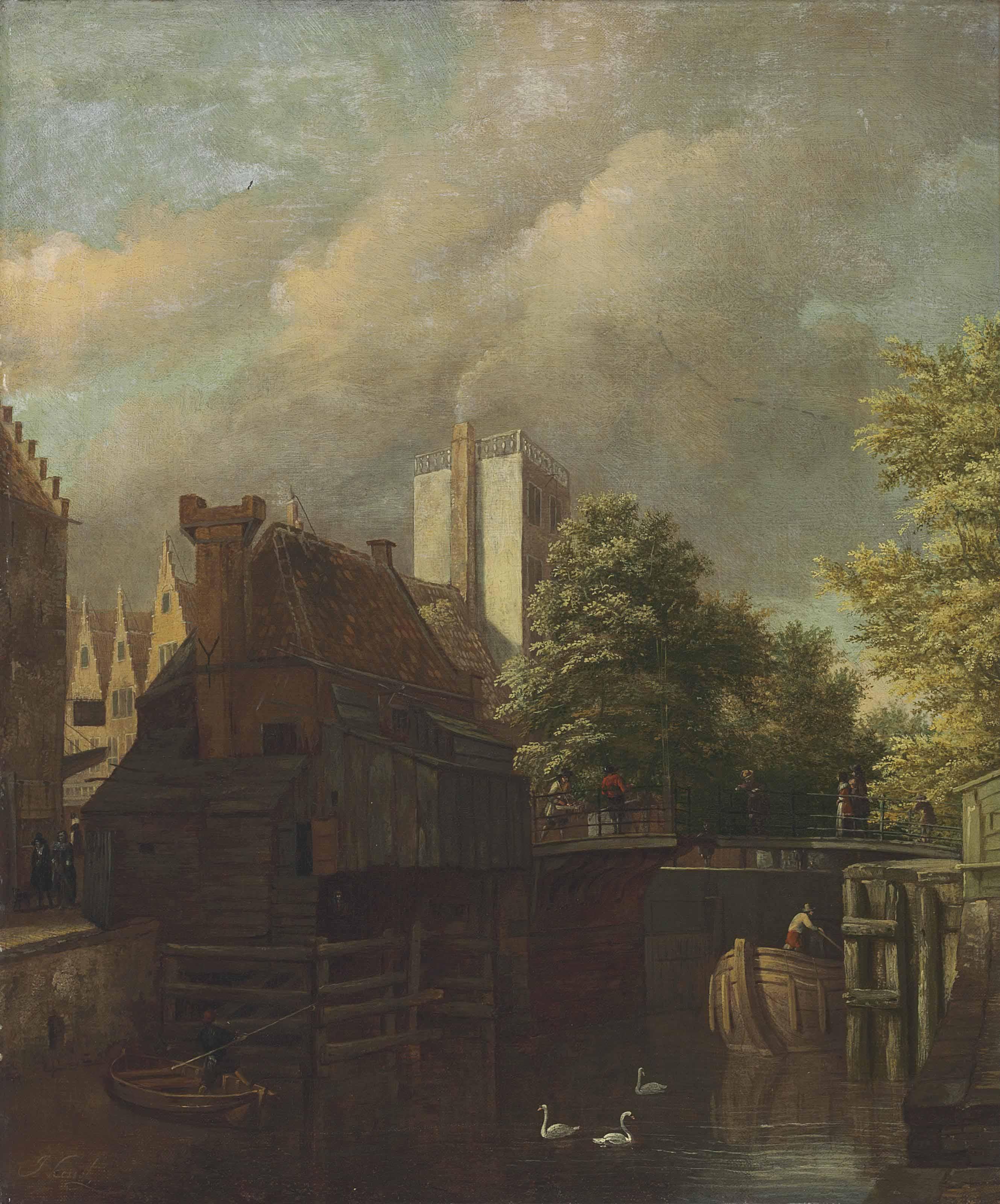 An Amsterdam canal scene