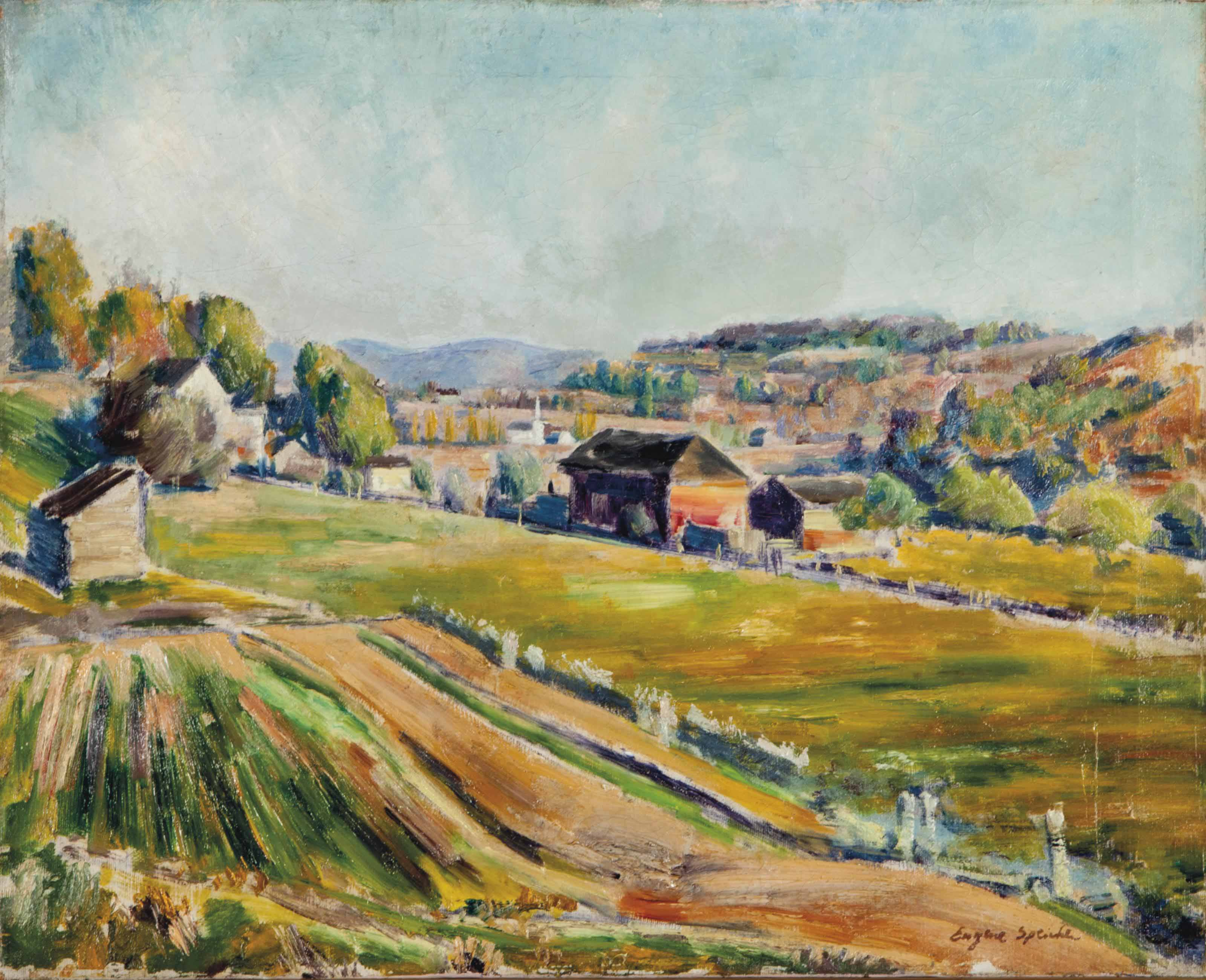 Landscape with Red Barn