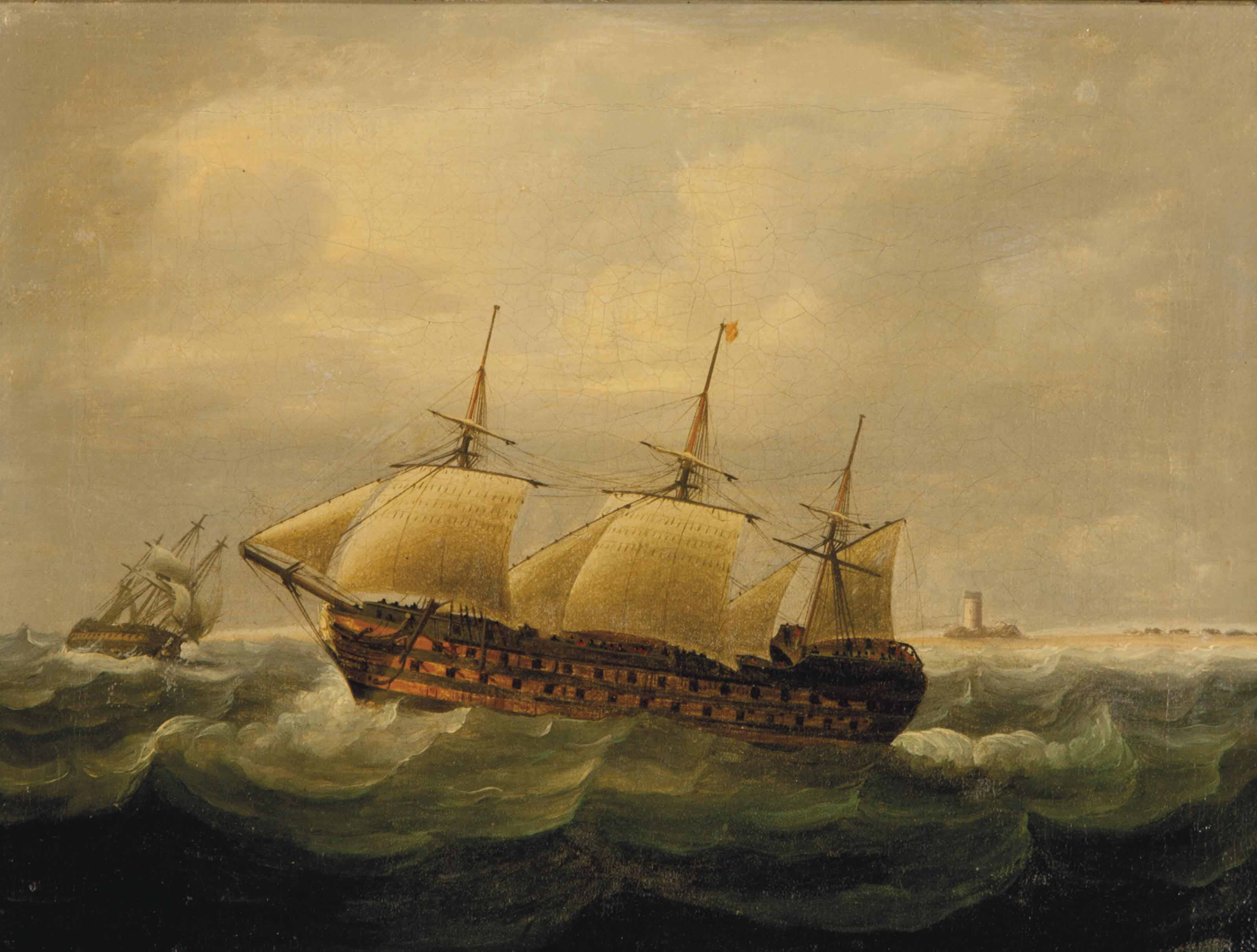 The wreck of the HMS St. George, Norway, 1811
