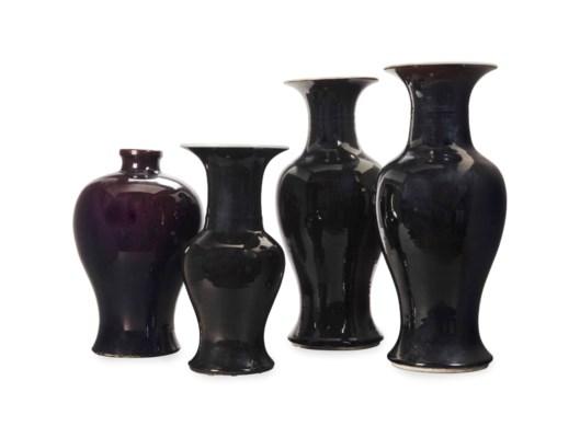 THREE CHINESE BLACK-GLAZED BAL