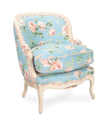 A LOUIS XV STYLE CREAM-PAINTED