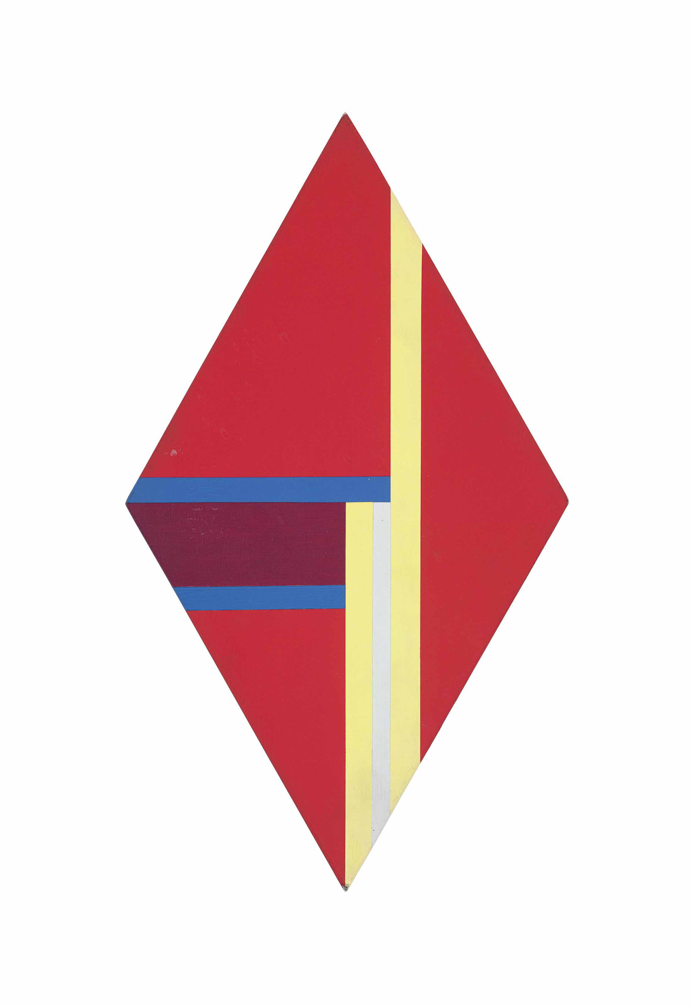 Rhomb in Red, Yellow and Blue