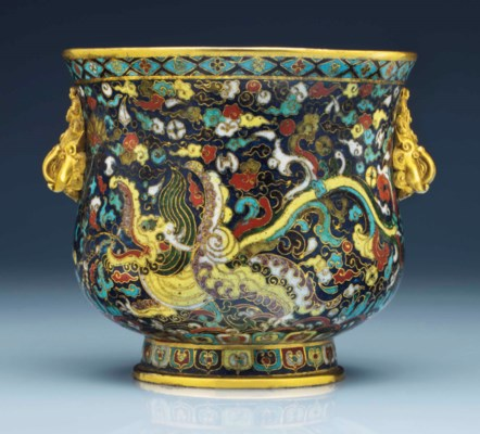 A Superb And Very Rare Cloisonn 201 Enamel Deep Bowl Ming
