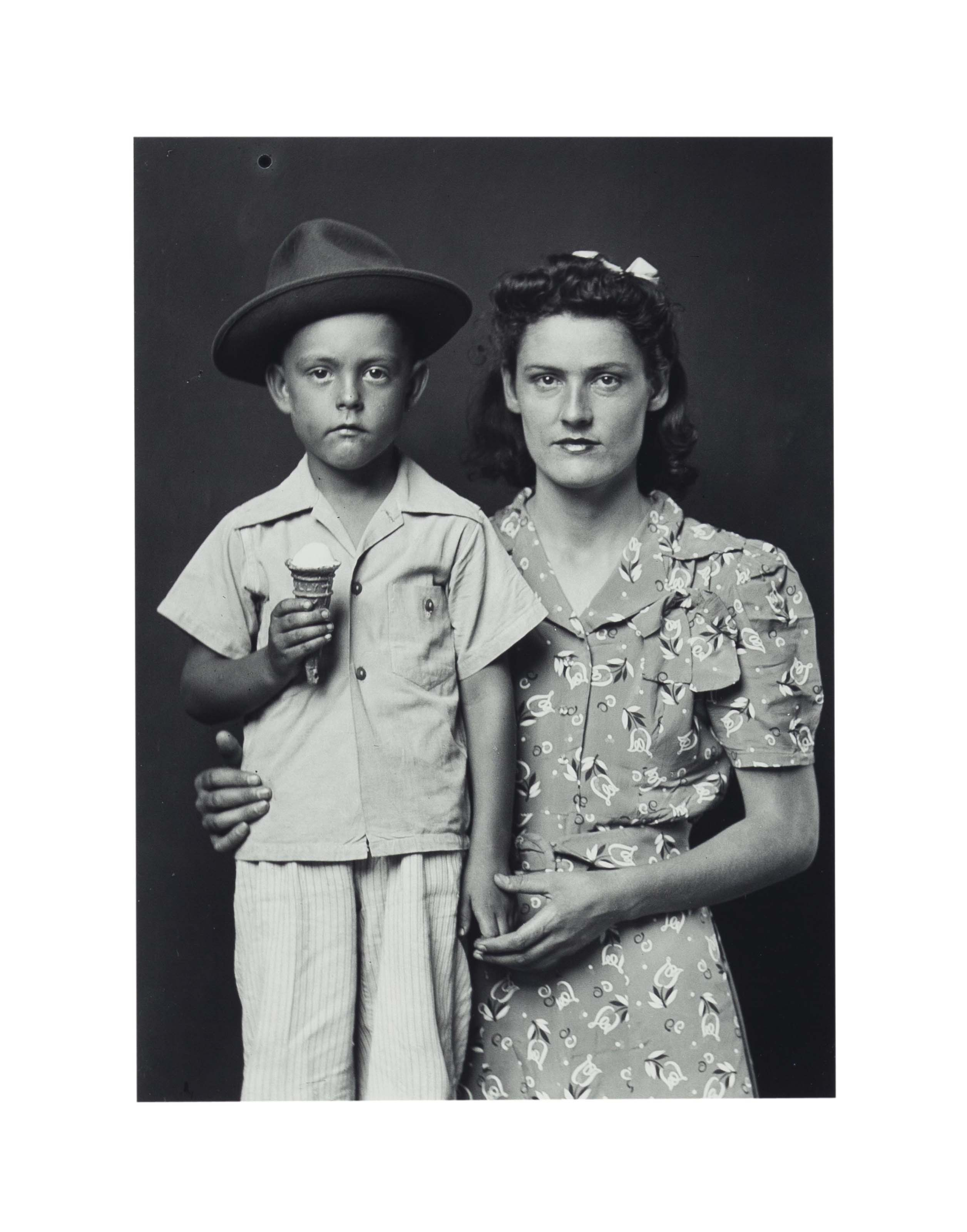 Mother and Boy with Ice Cream, c. 1940