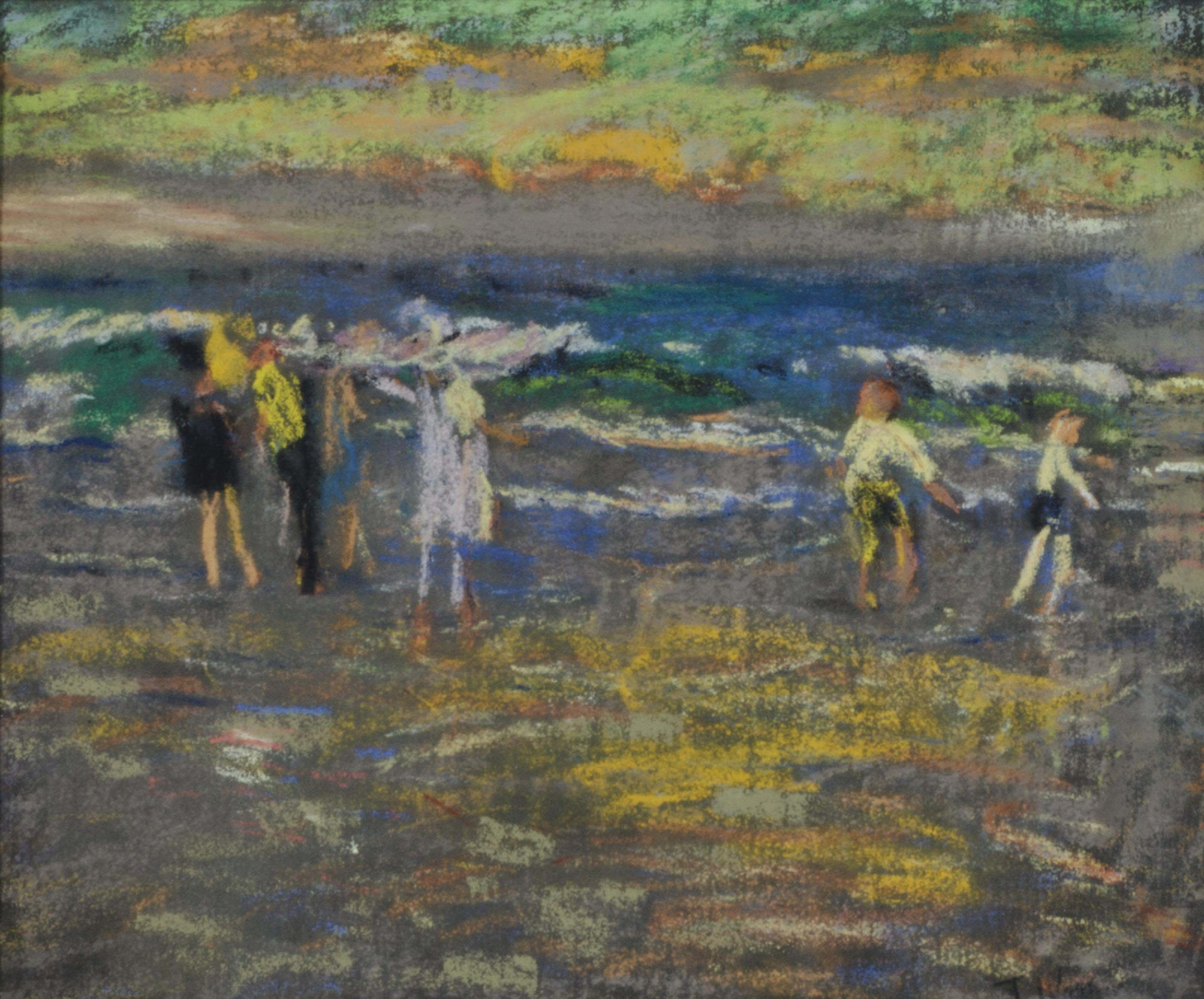 Figures at the seaside; and a companion drawing