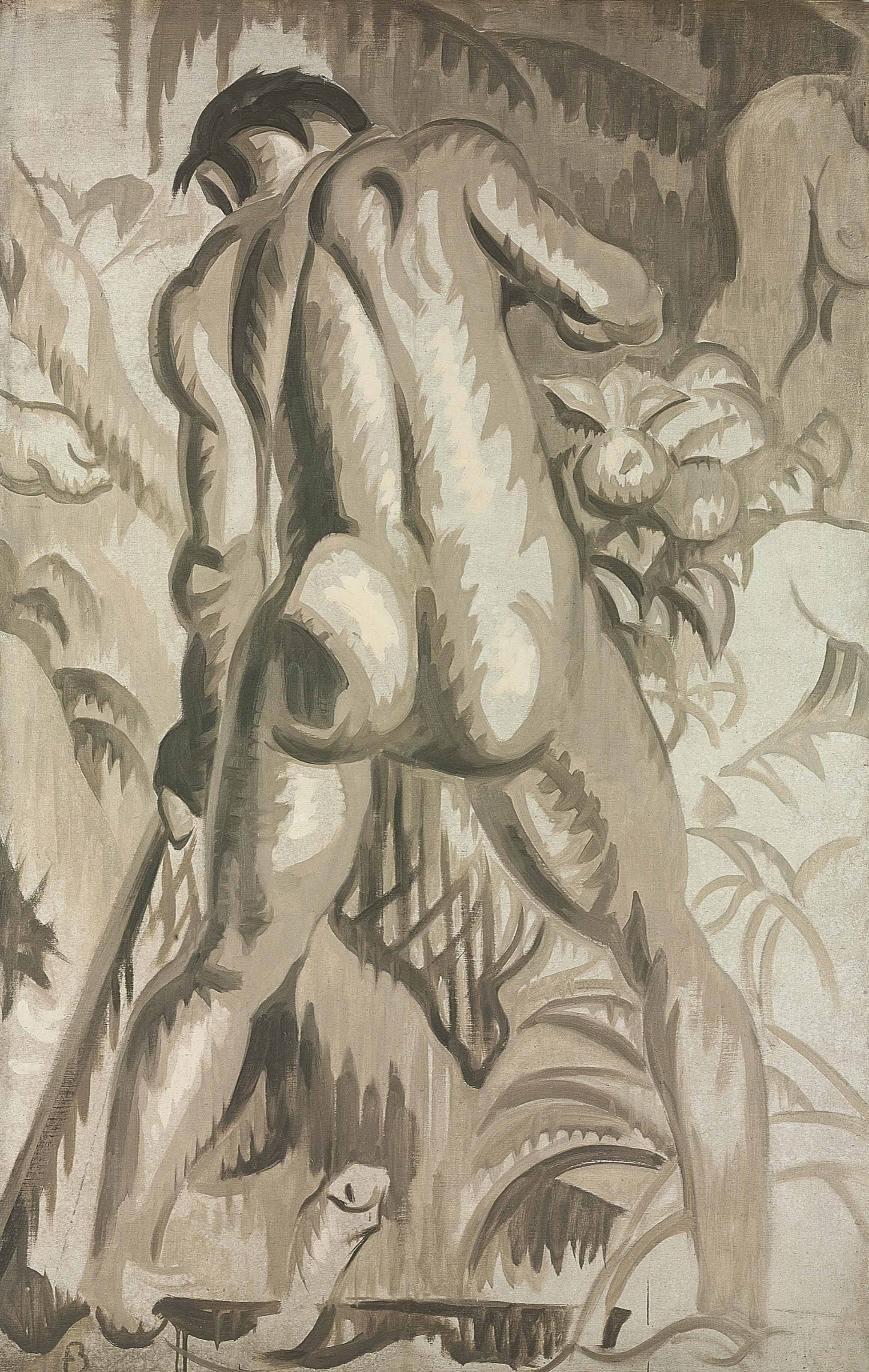 'Temptation', a Study for the Mural in 30 Rockefeller Plaza, New York
