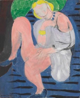 Image result for femme dans un fauteuil fond bleu et june 1936 matisse