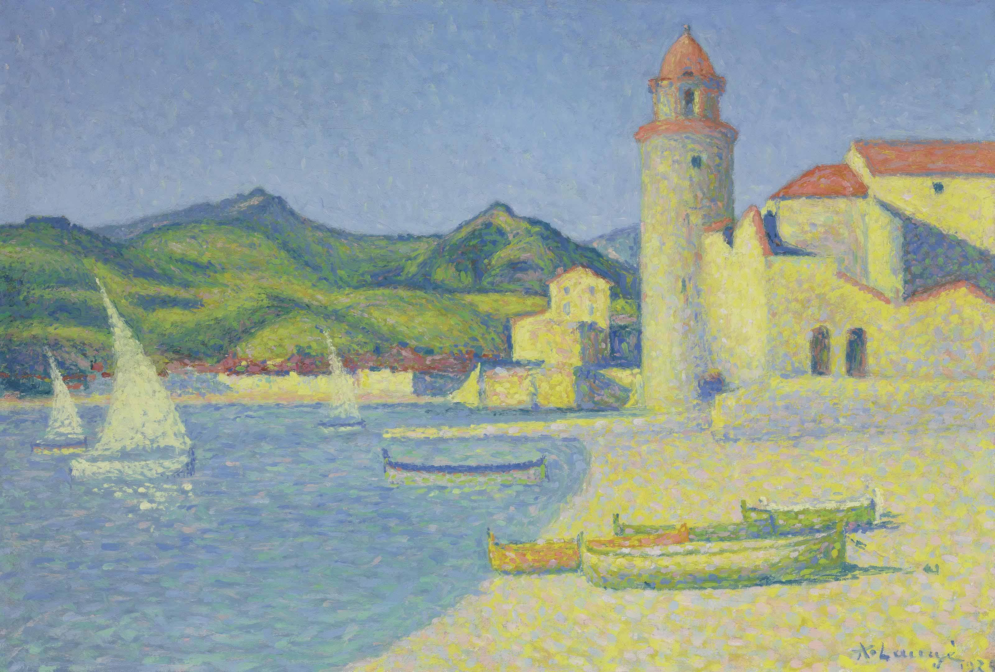 Voiles blanches à Collioure