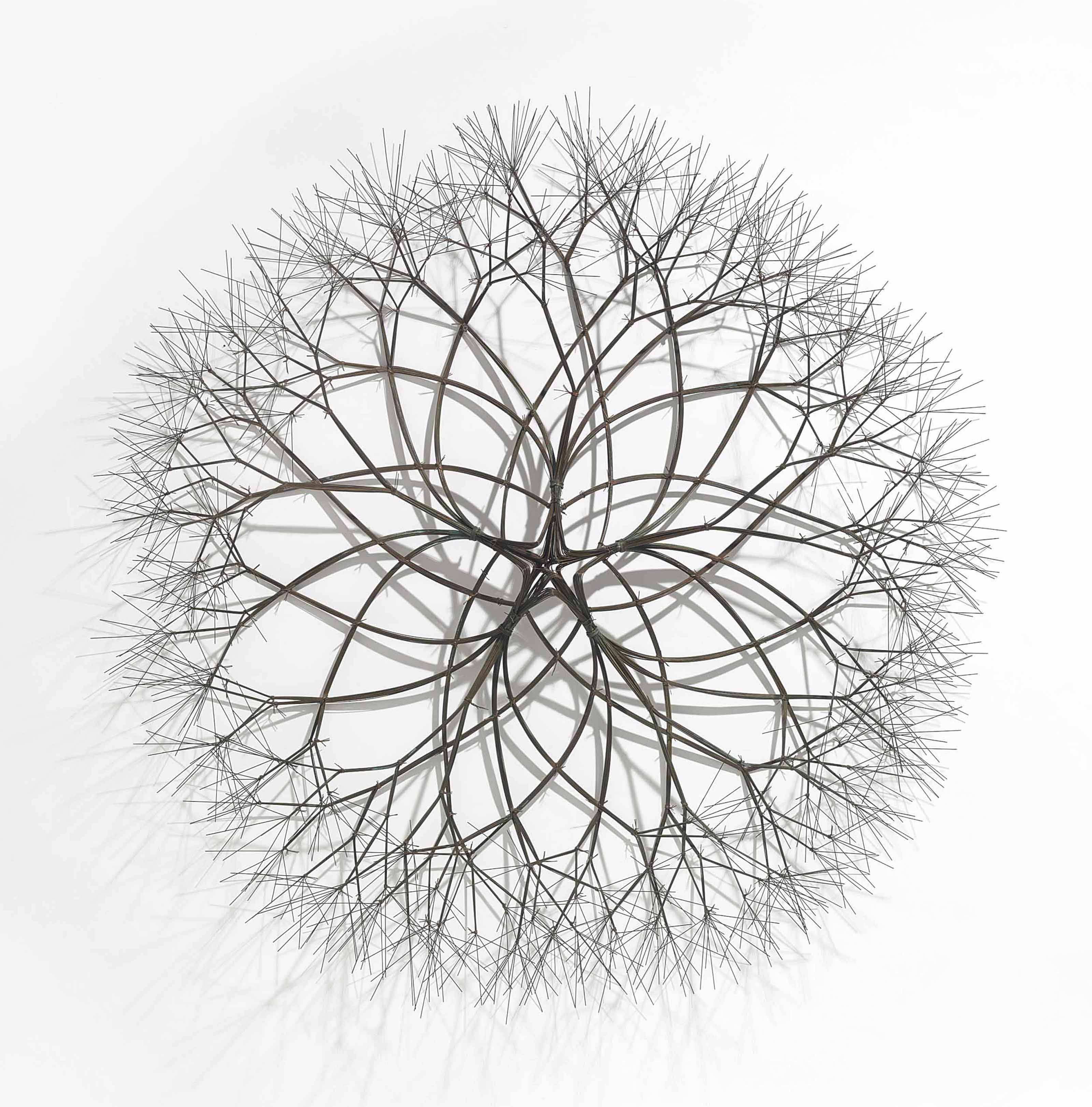 Untitled (S.118, Wall-Mounted, Tied Wire, Open Center, Five-Branched, Form based on Nature)