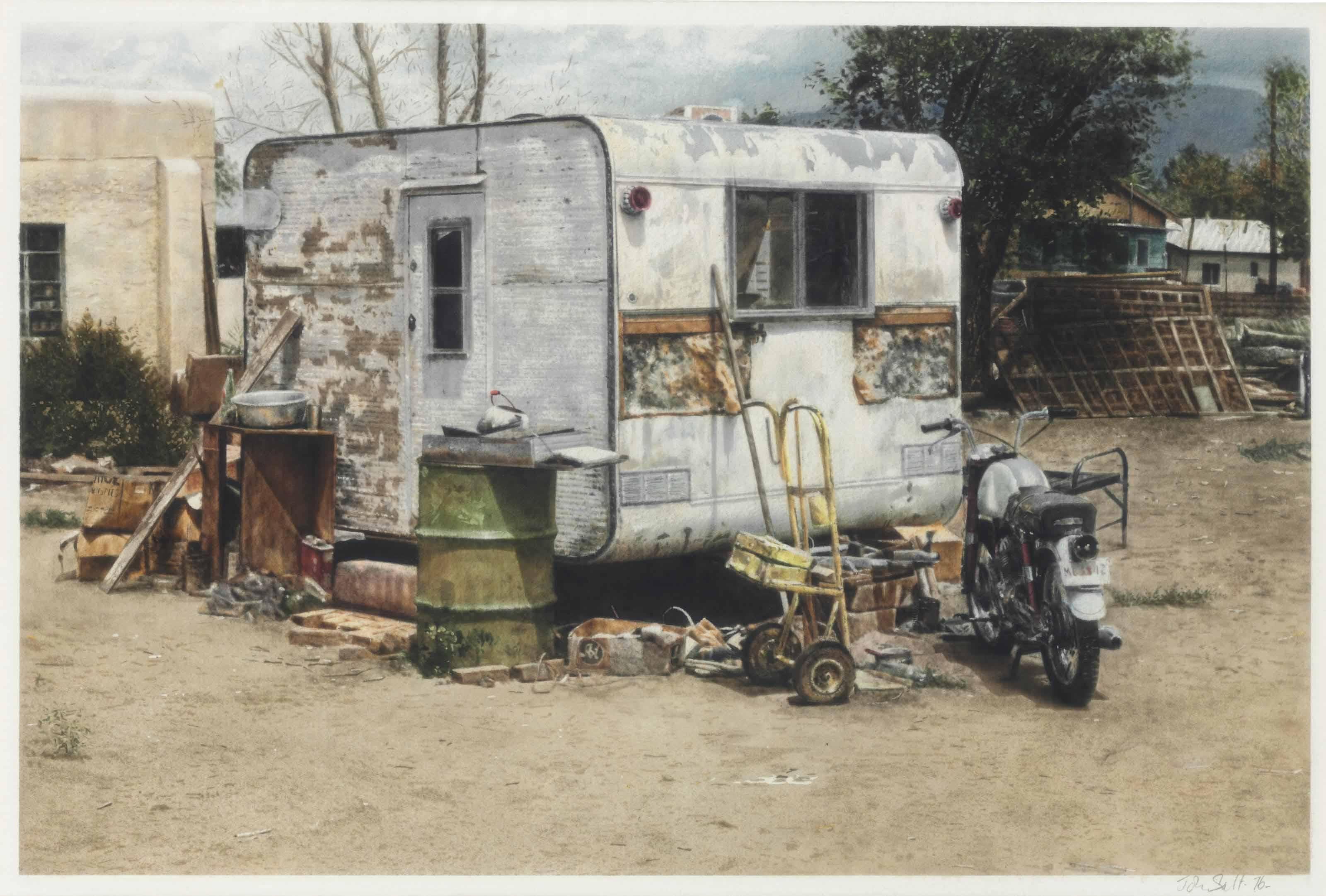 White Trailer House