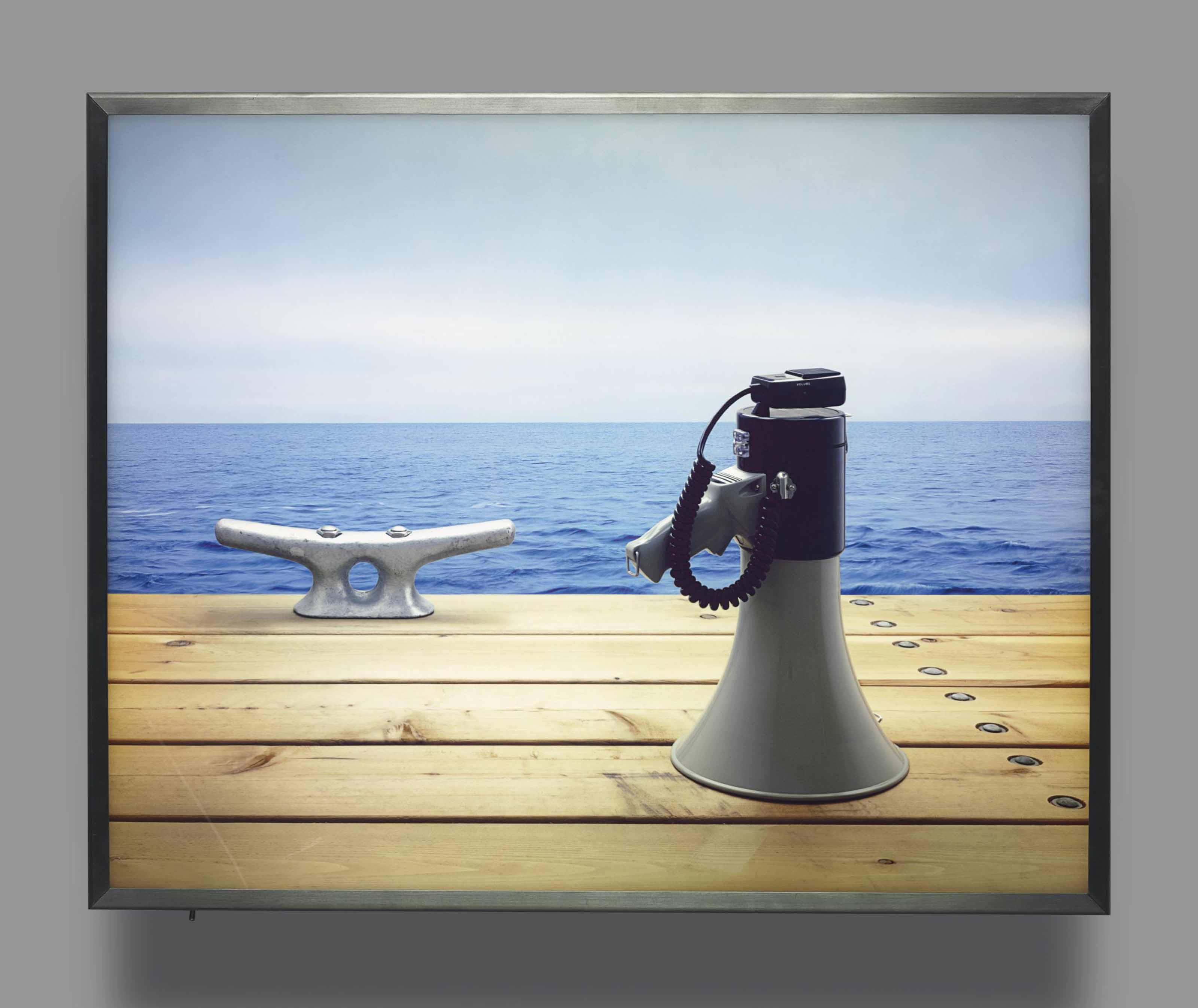 Nautical Scene with Loudhailer
