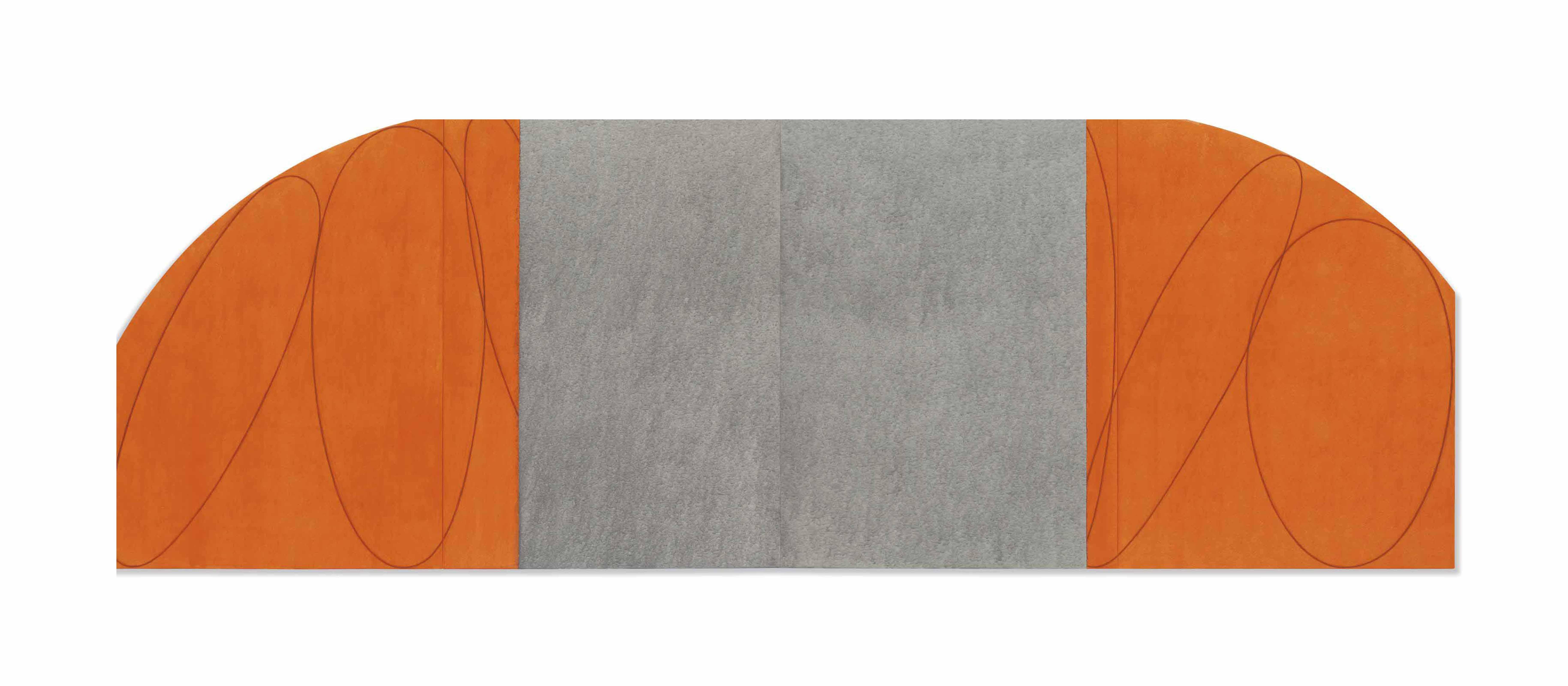 Orange/Gray Four Panel Zone Painting