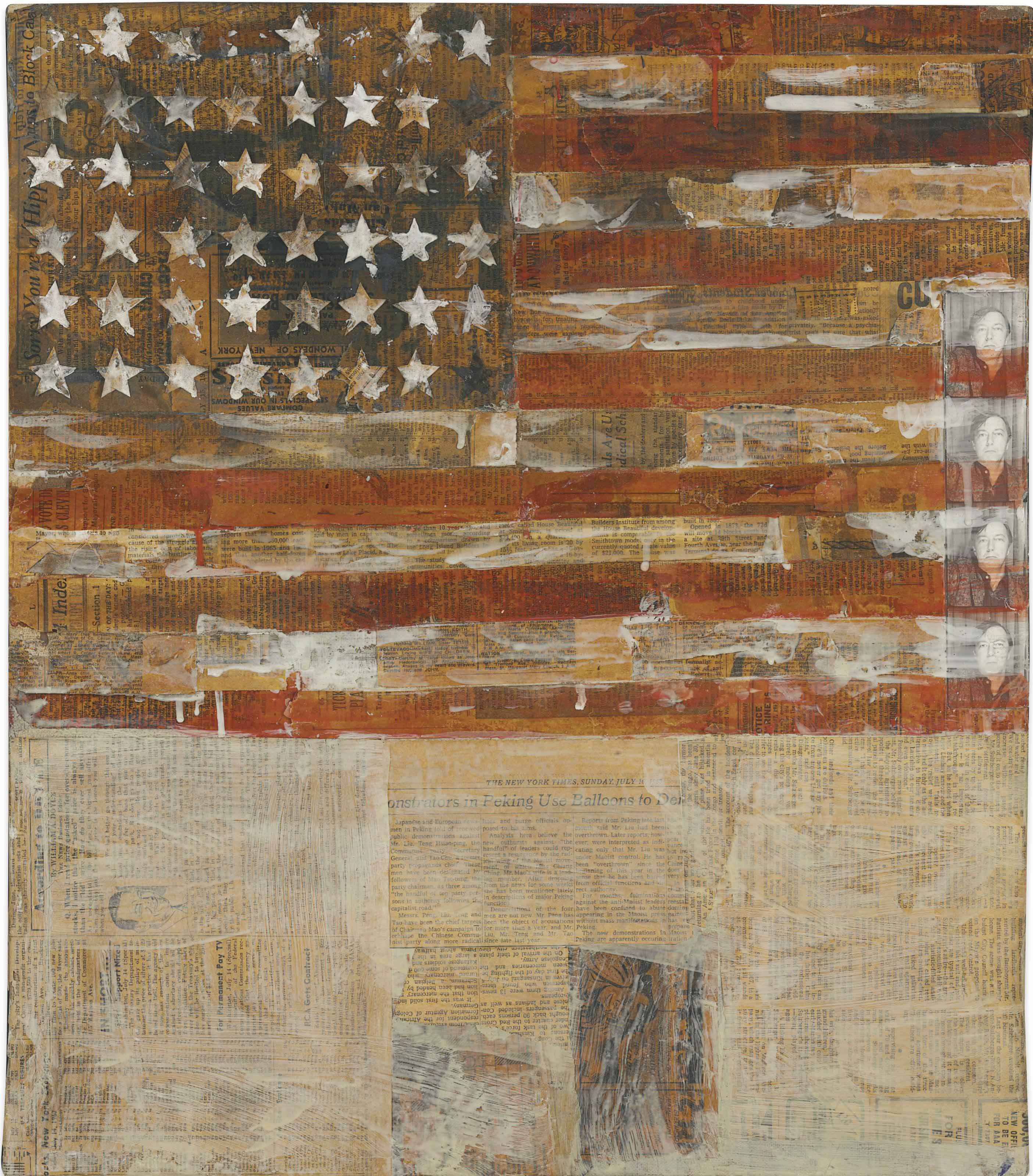 Flag after Jasper Johns