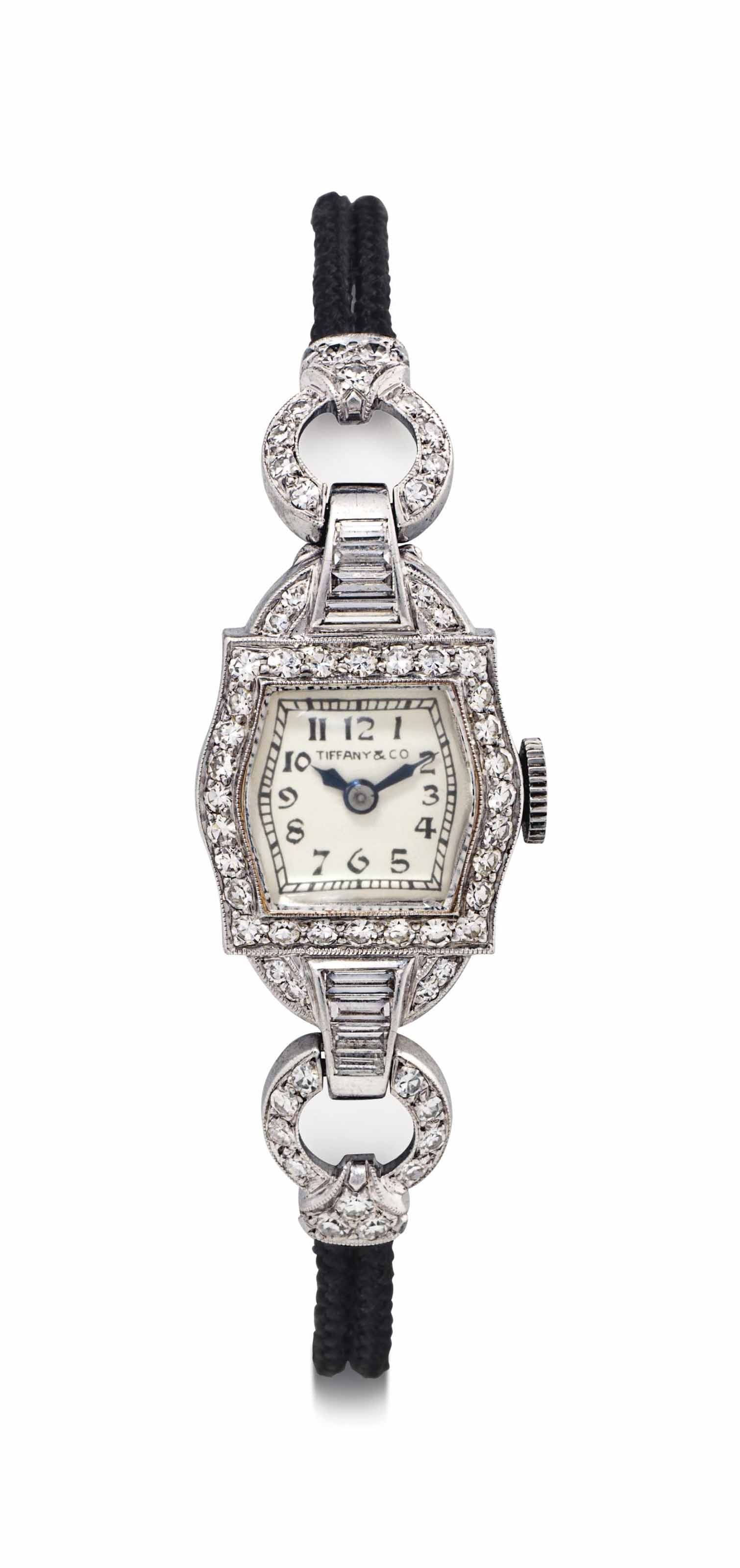 Hamilton. A Lady's Fine Platinum and Diamond-set Wristwatch