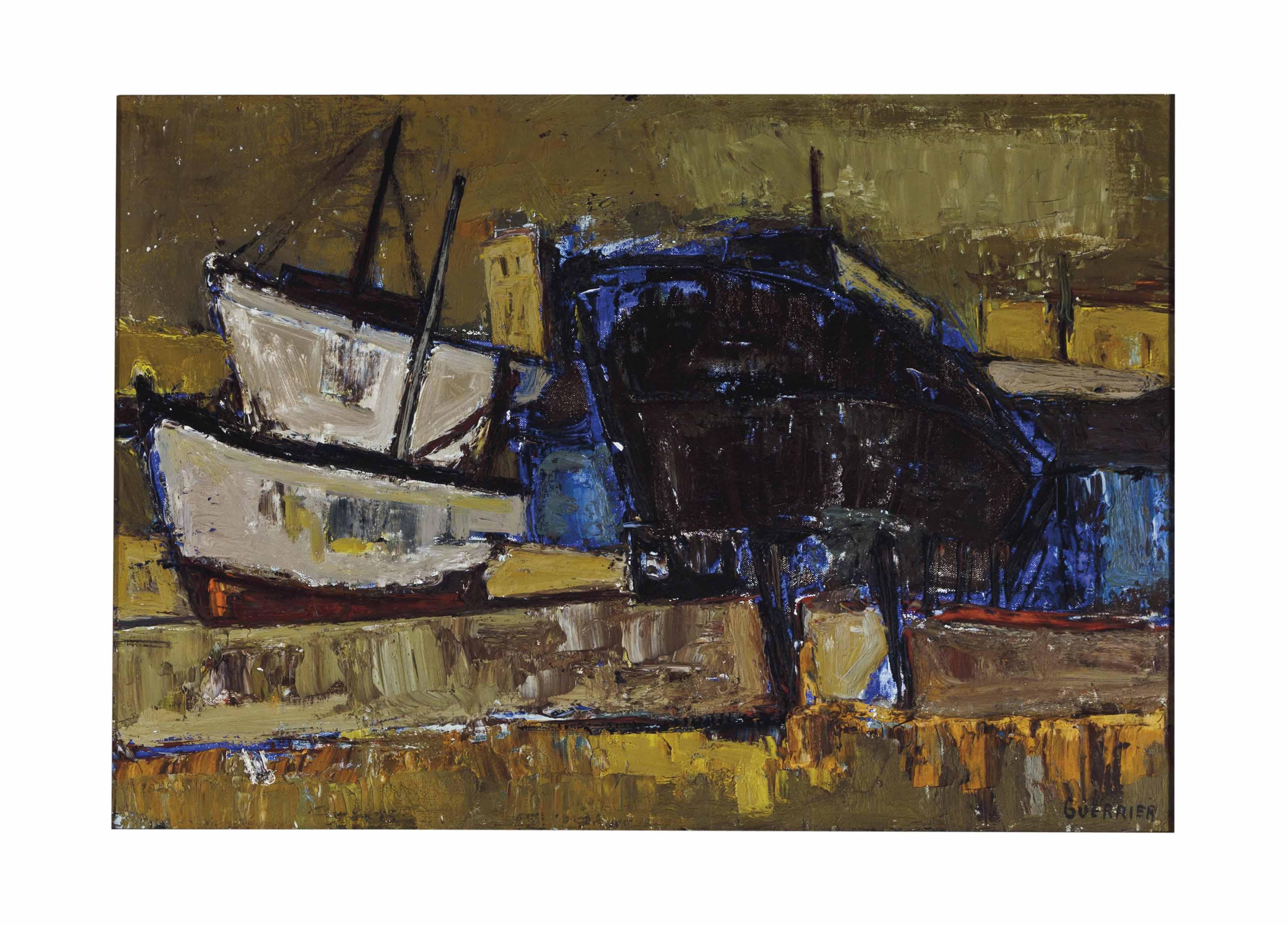 Bateaux dans un port