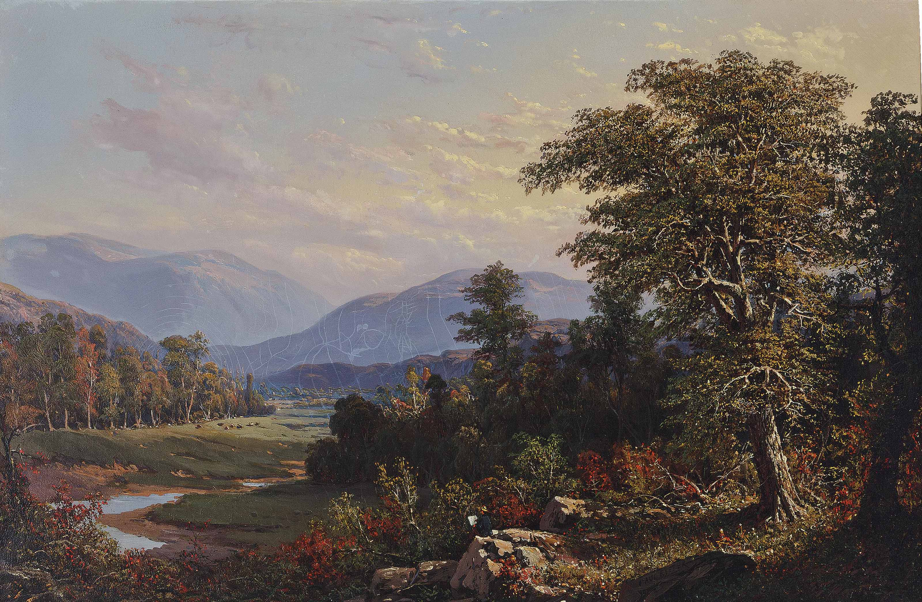 Valley in the White Mountains, New Hampshire