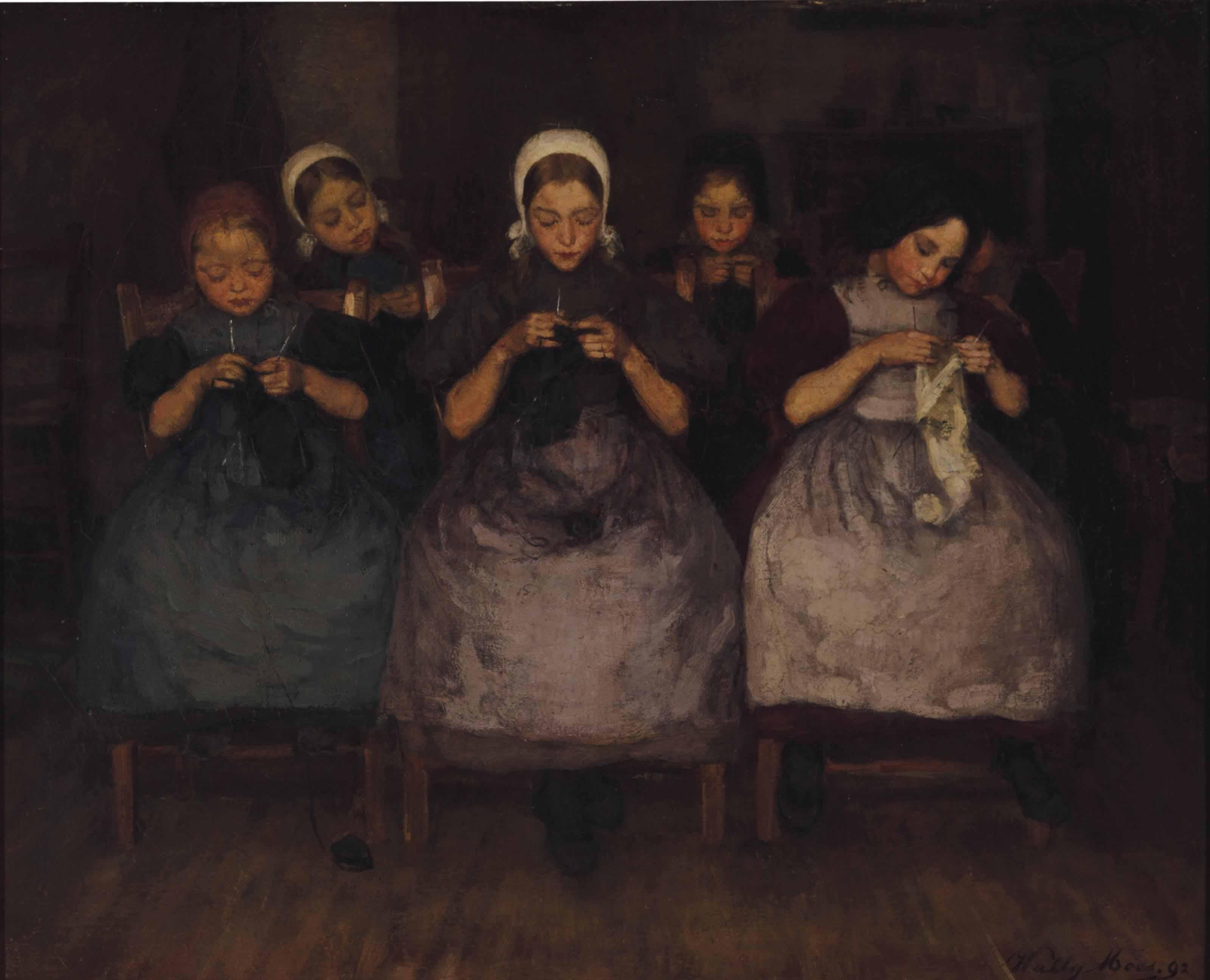 A knitting class