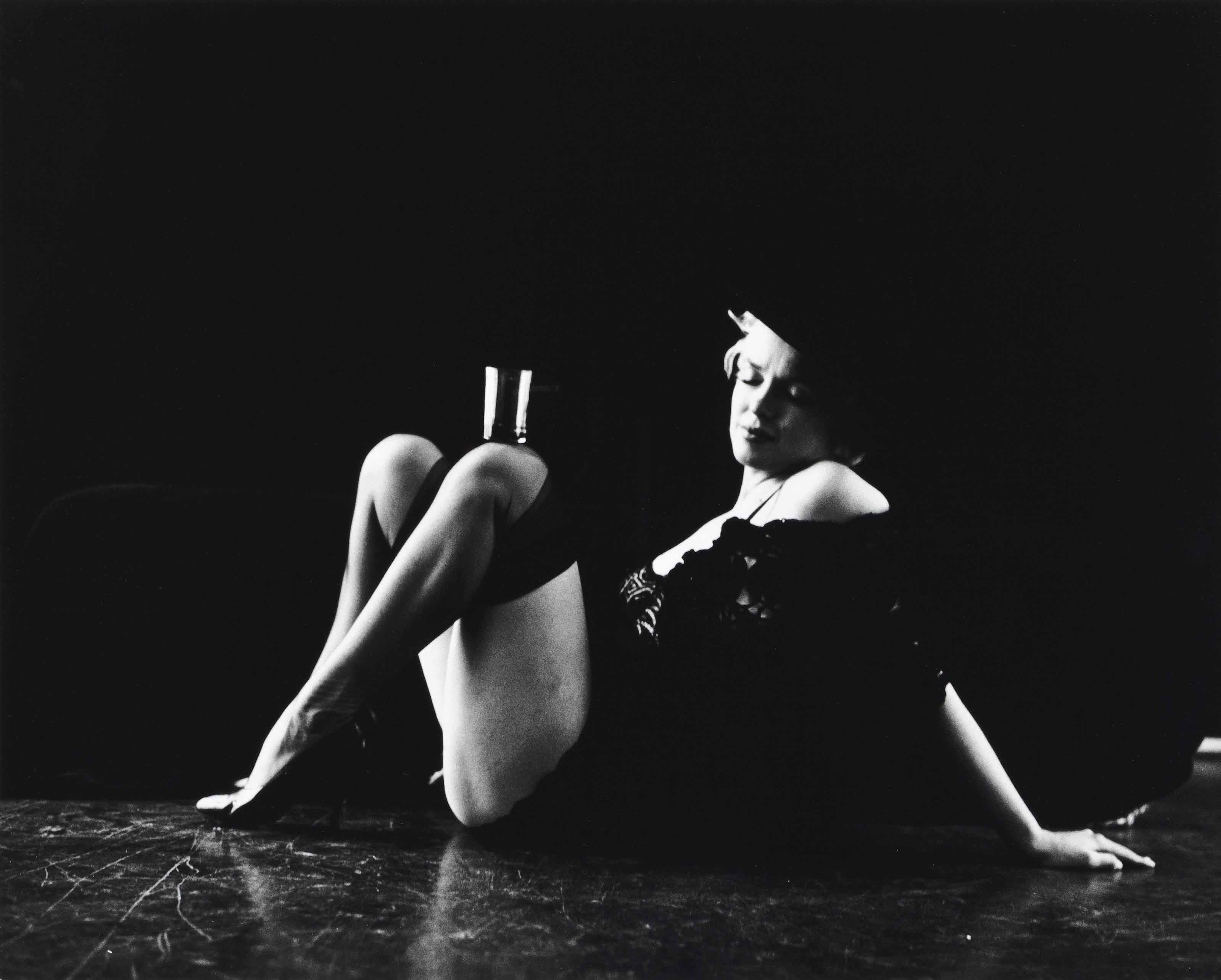 Marilyn Monroe from the 'Black Sitting', 1956