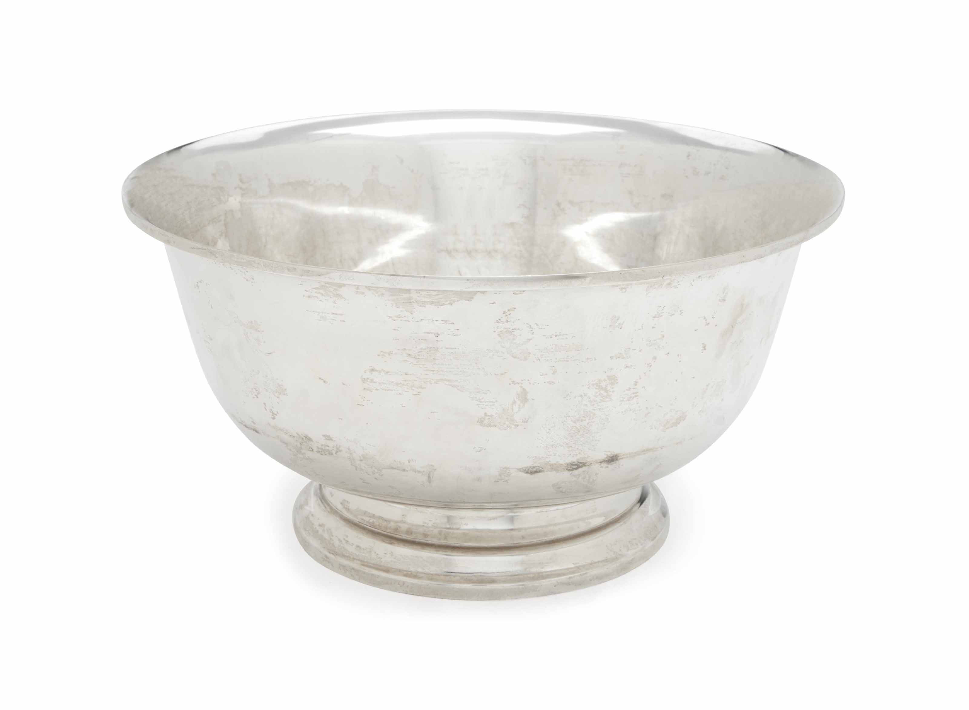 AN AMERICAN LARGE SILVER REVERE-STYLE BOWL