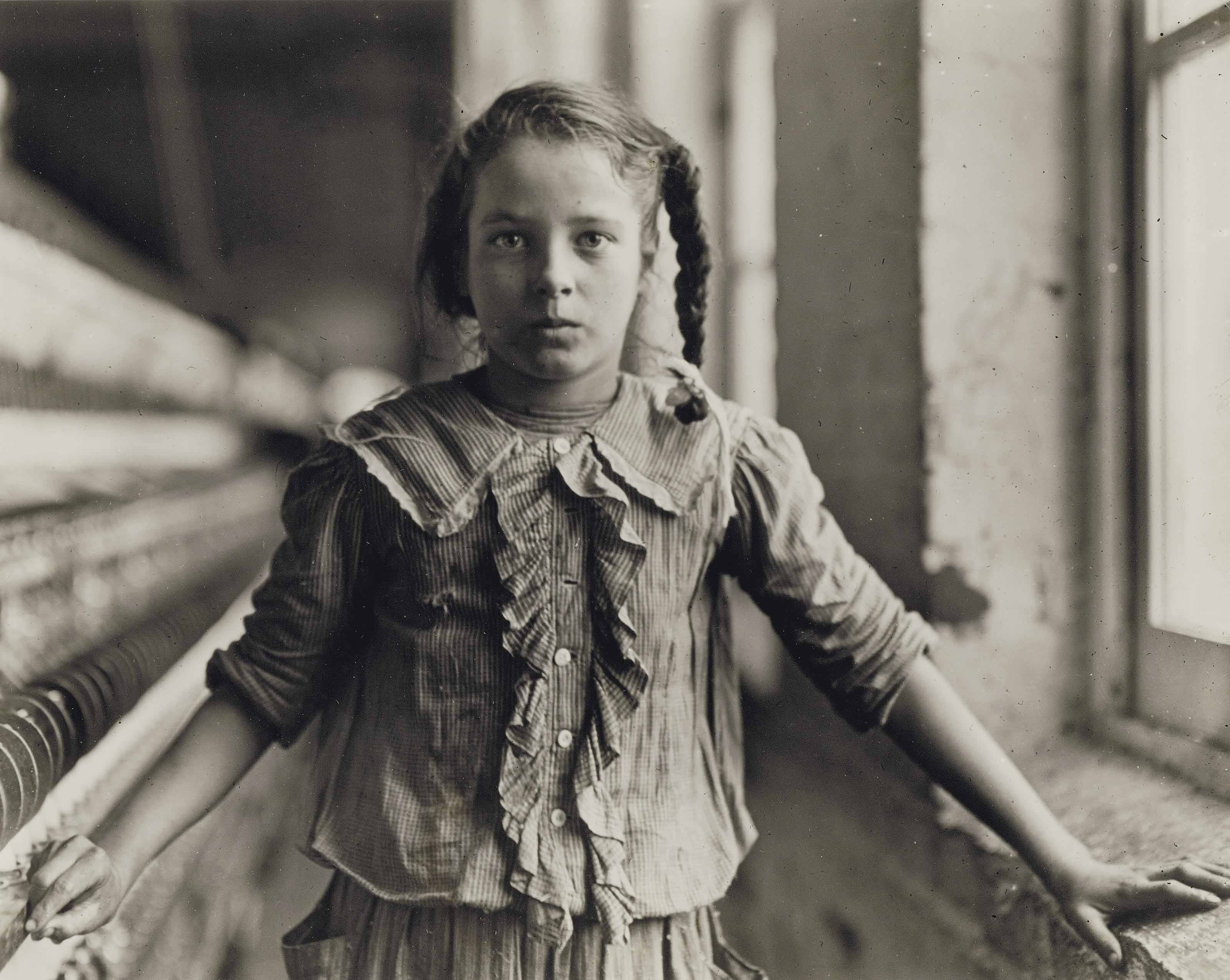 Girl Worker in Carolina Cotton Mill, 1907