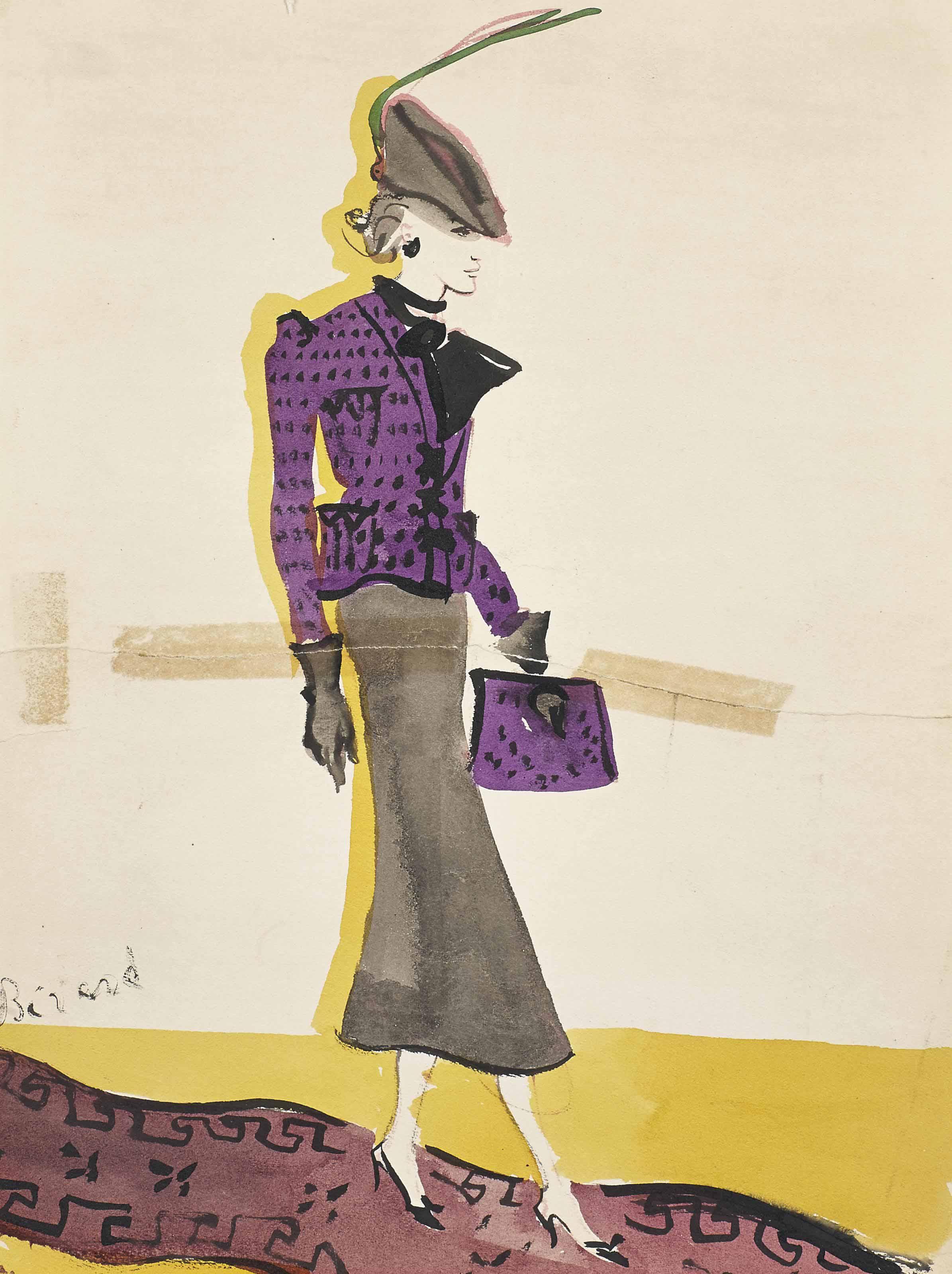 Elégante à la veste violette