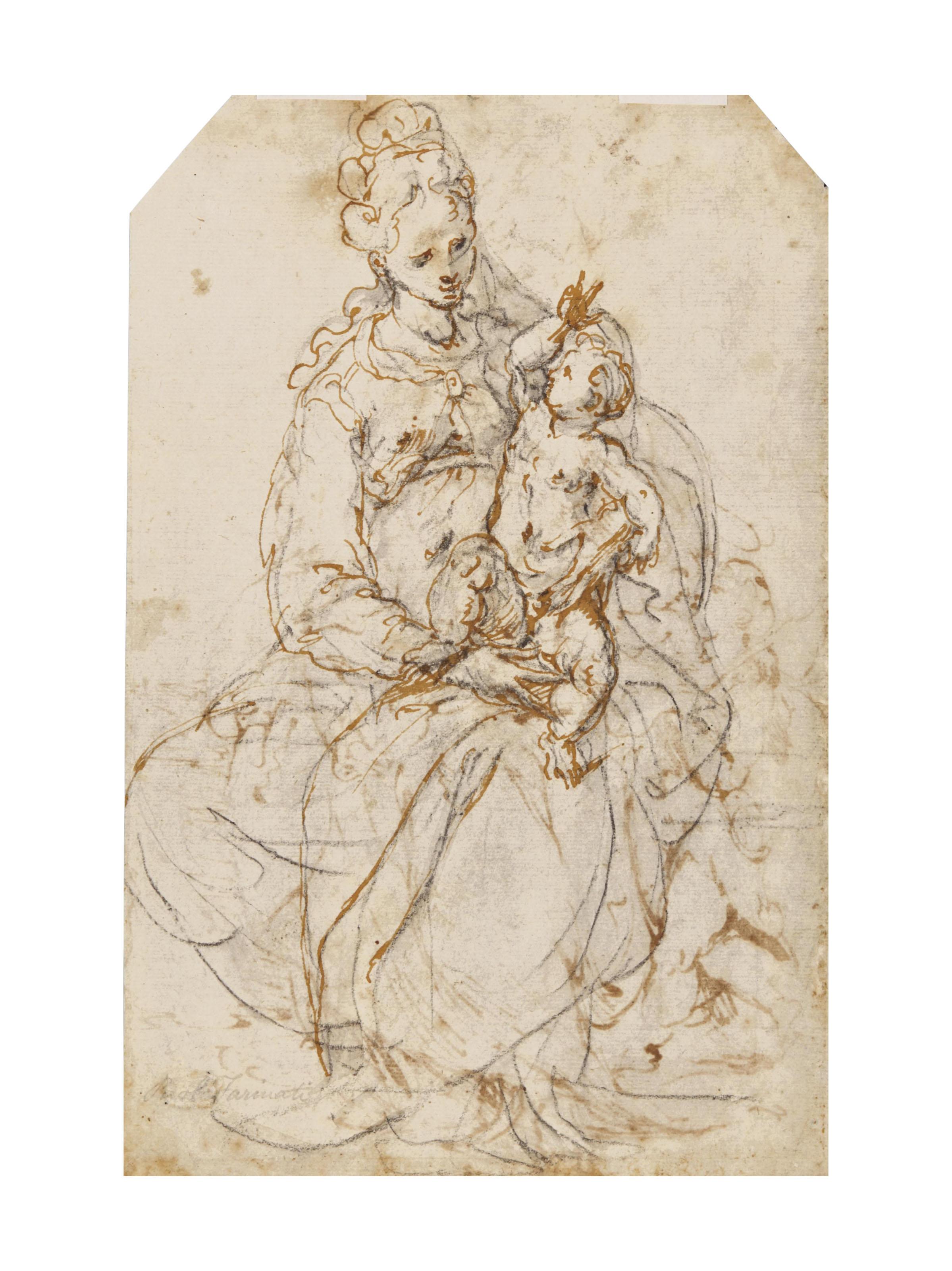 Vierge à l'Enfant avec Saint Jean-Baptiste (recto); Vierge à l'Enfant (verso)