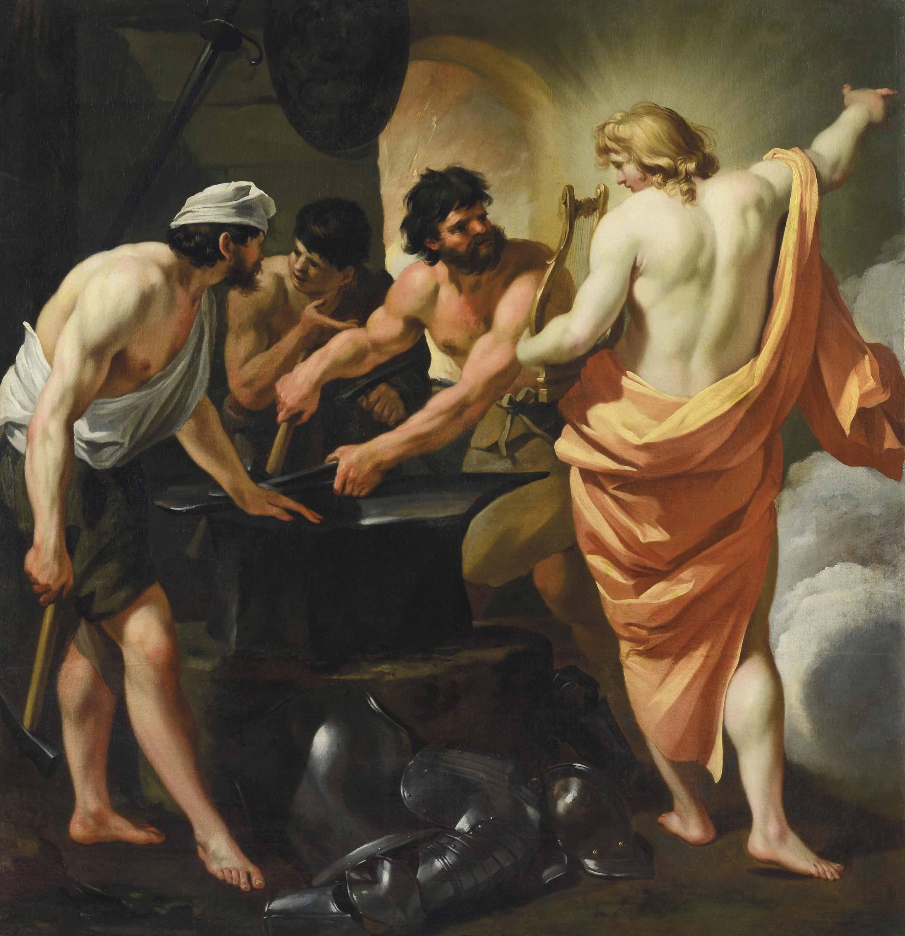 Apollon dans les forges de Vulcain