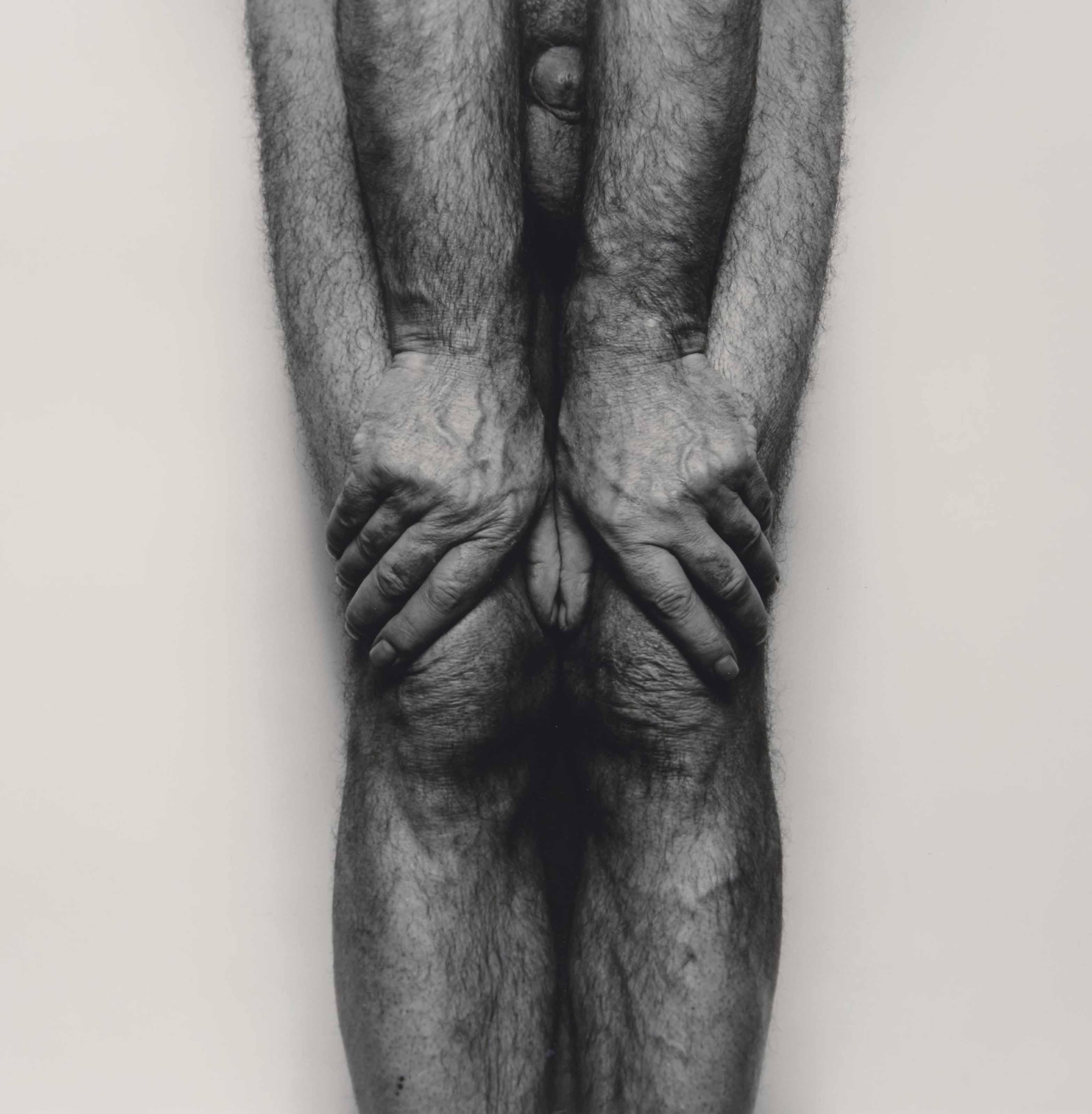 Self Portrait (Legs and Hands, Thumbs Together) SP6185, 1985