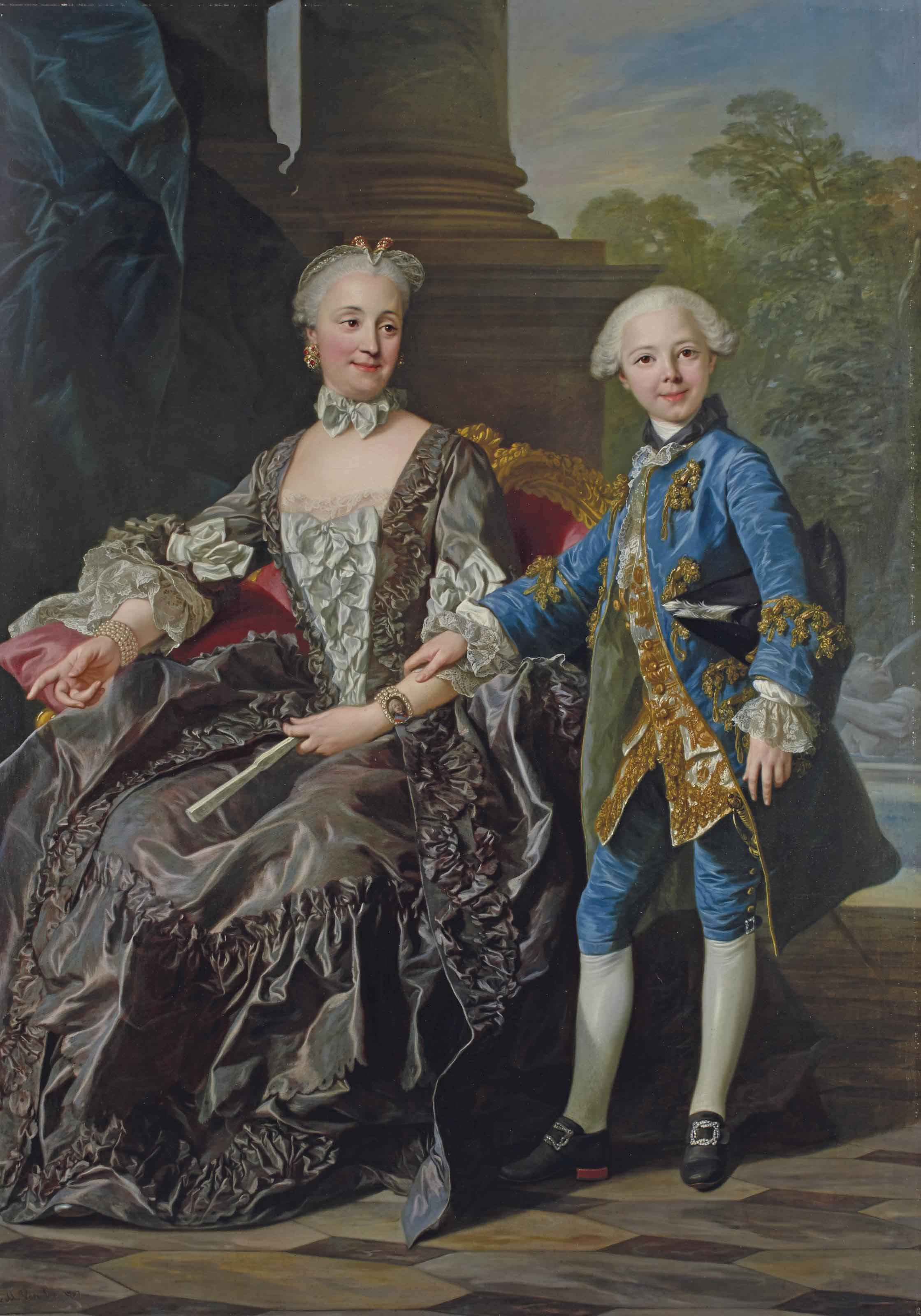 La duchesse de Choiseul et son fils