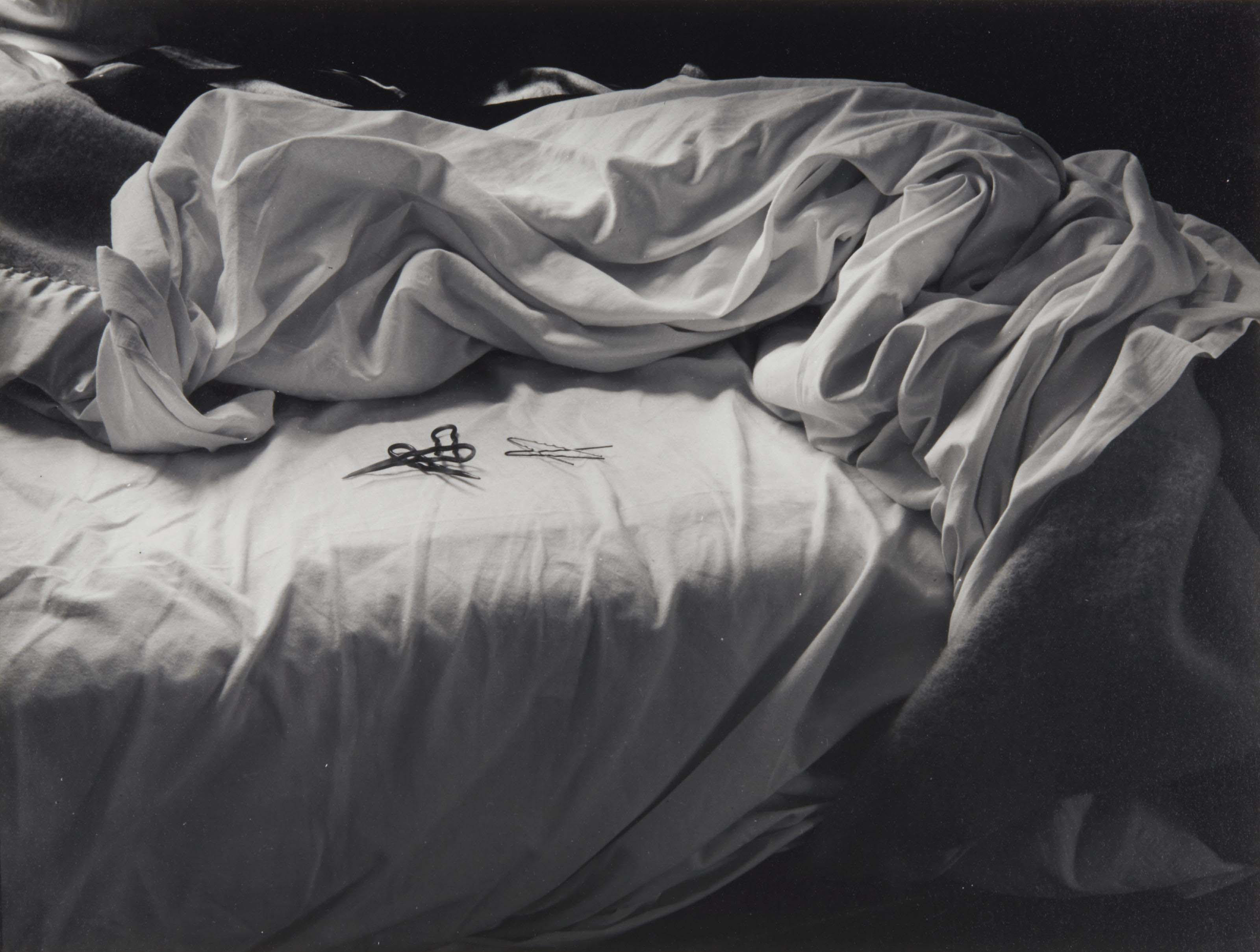 Unmade bed, 1957