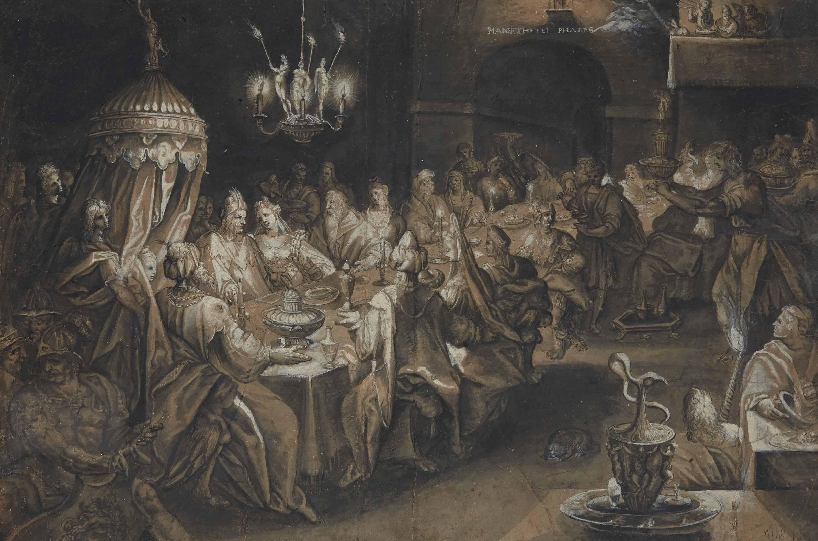Le festin de Balthazar, d'après Jan Harmensz Müller
