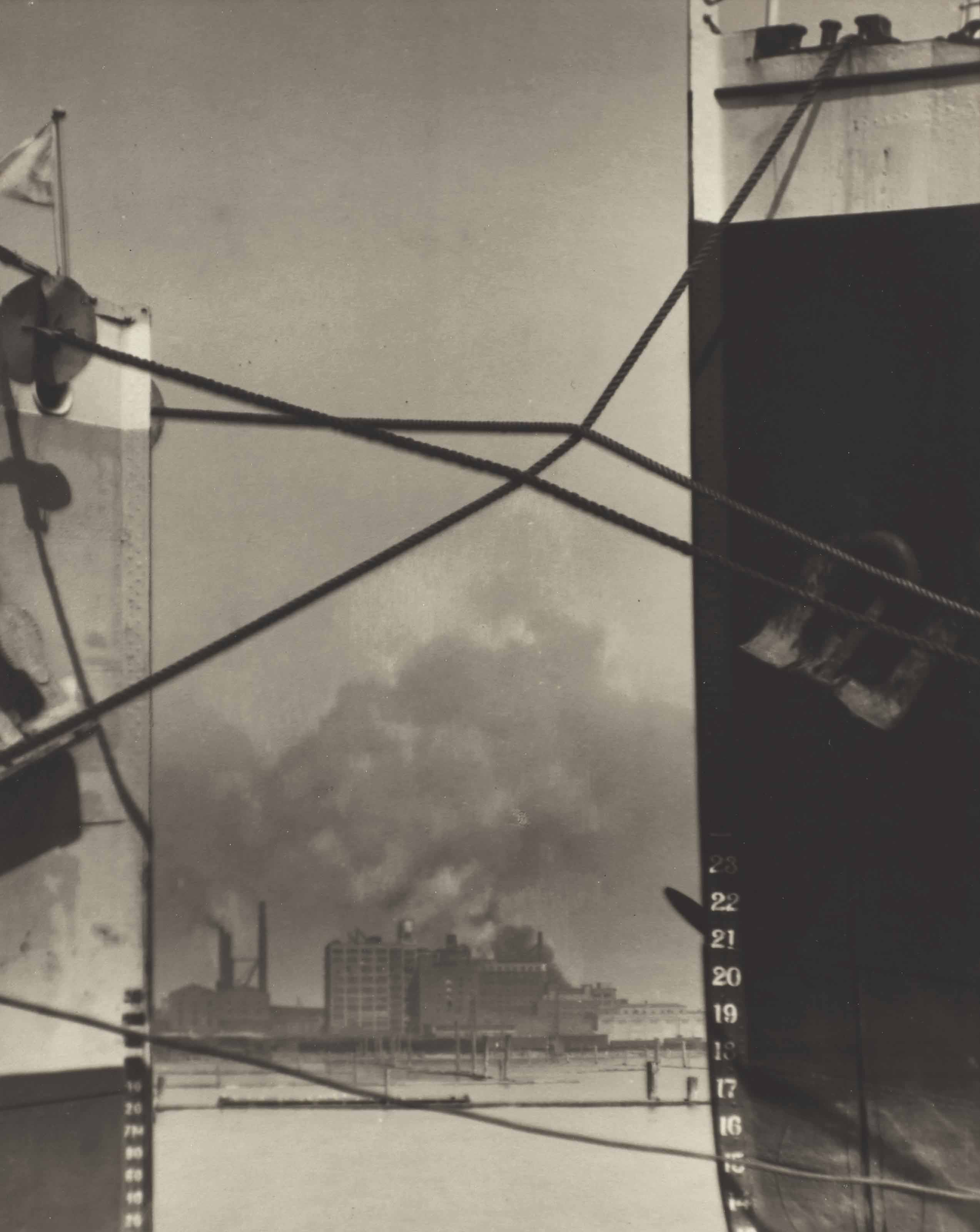 Sans titre (boats in the harbor), circa 1925