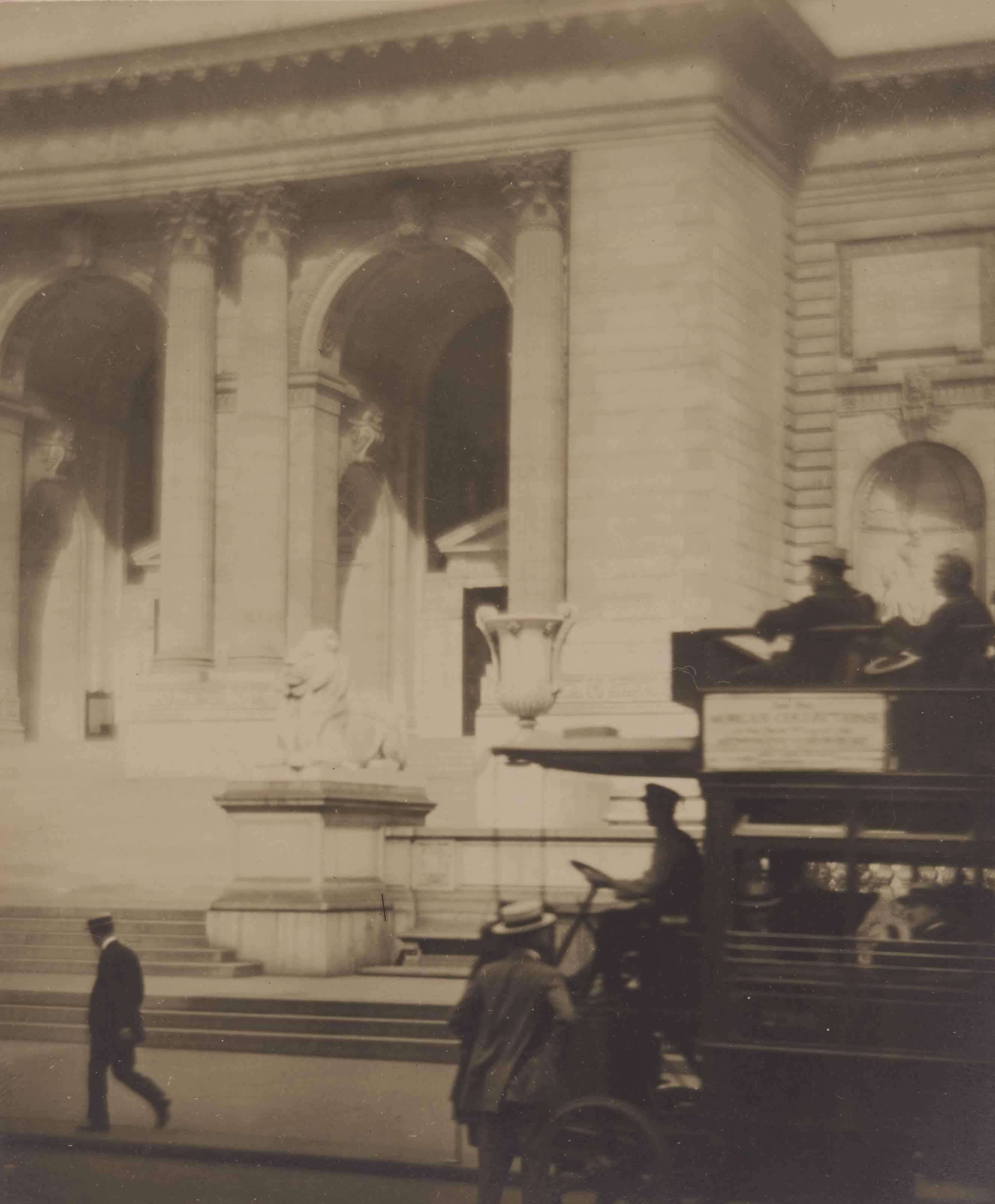 New York Public Library, Fifth Avenue, 1910