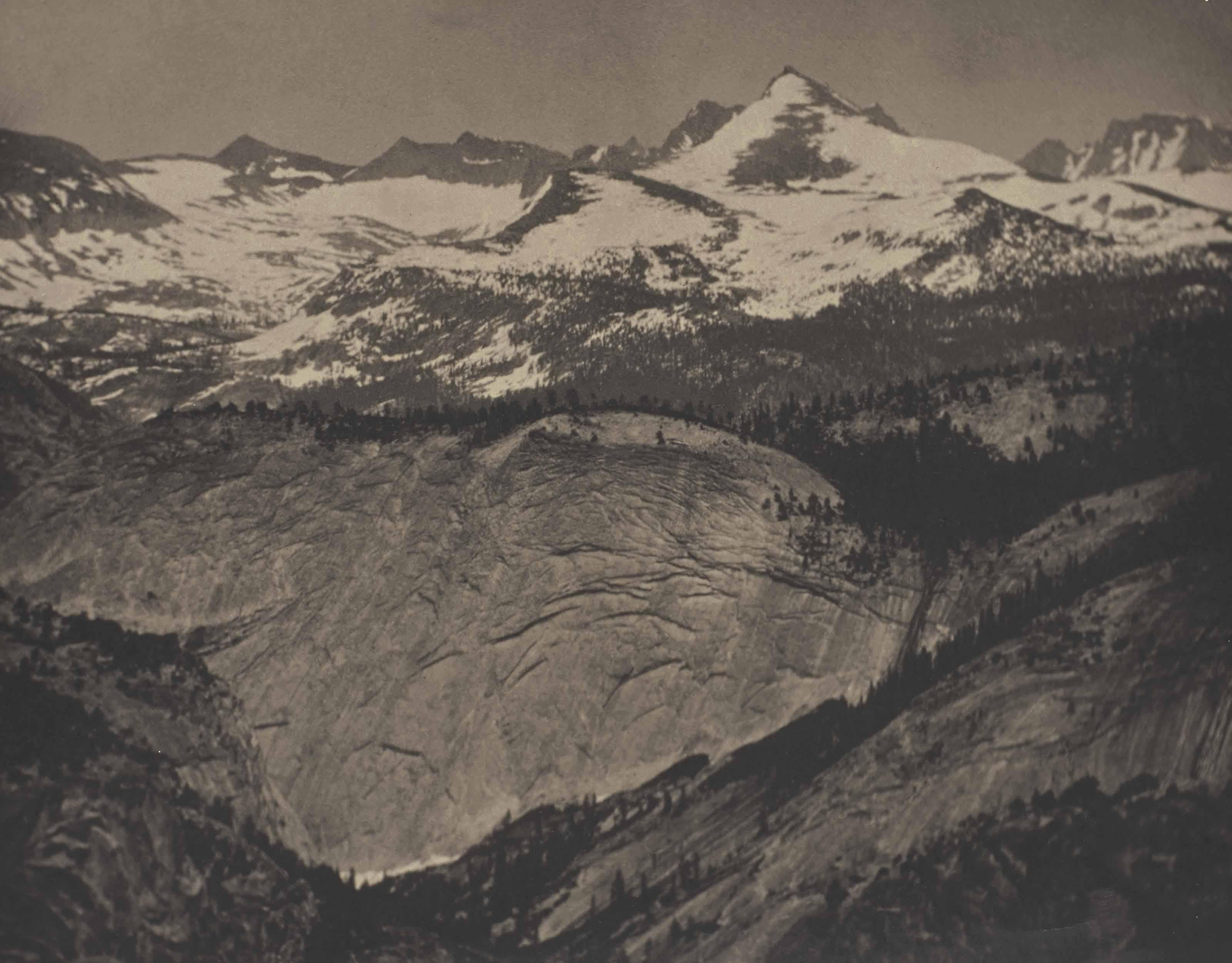 In the High Sierra, Yosemite, vers 1911