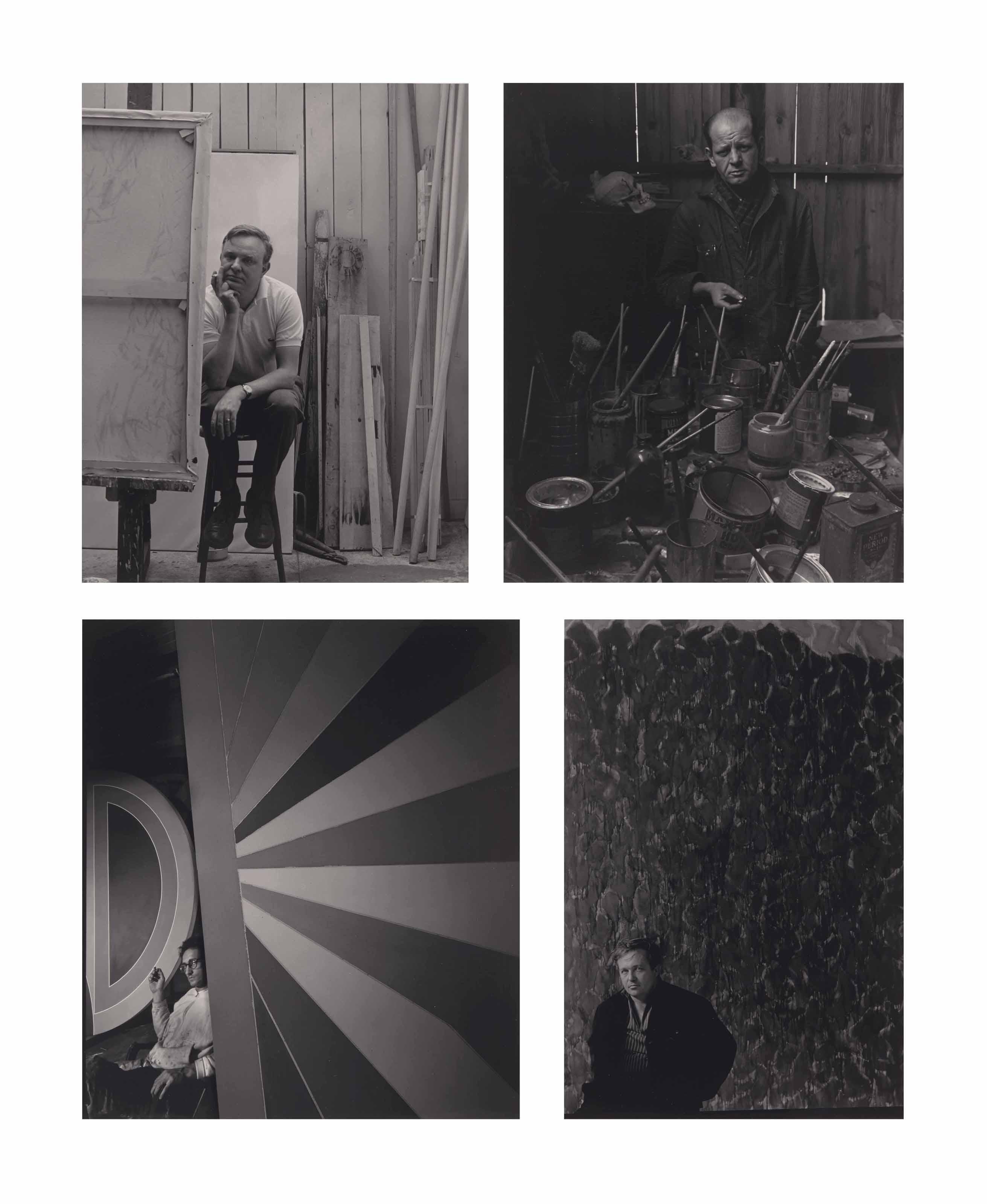 Sir Cecil Beaton, 1978; Sir Frederic Ashton, 1978; Jackson Pollock, 1949; Sam Francis, 1957; Robert Motherwell, 1959; Frank Stella, 1967; Christo, 1980; Antonio Tapiès, 1966