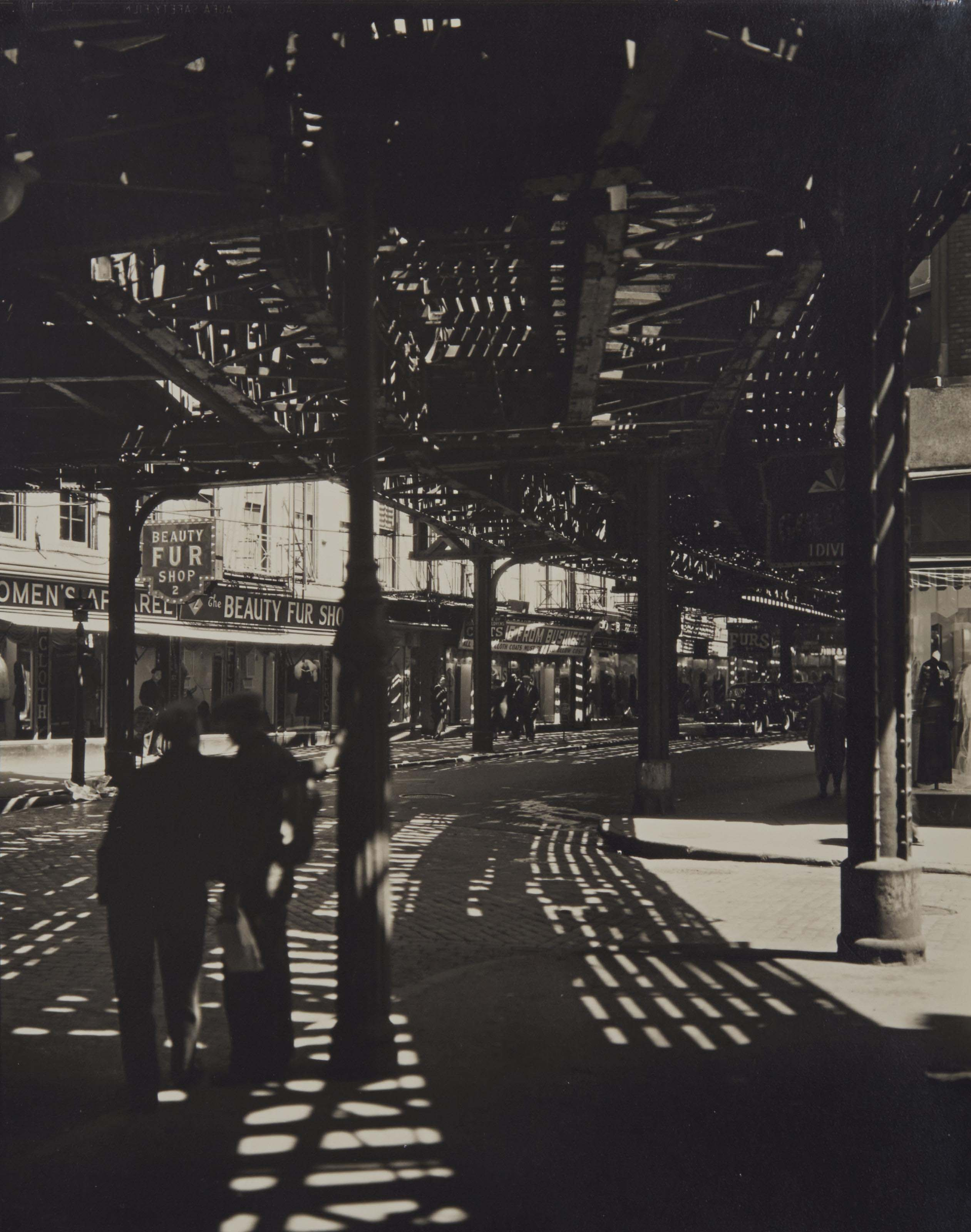 El, Second and Third Avenues Line, Bowery & Division Street, 1936