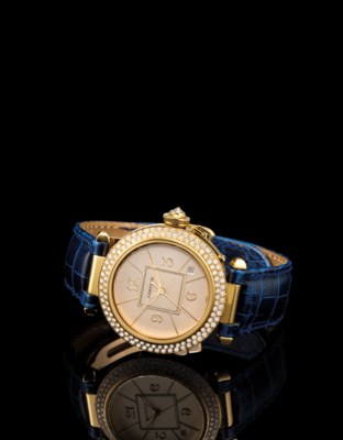 CARTIER. A FINE 18K GOLD AND D