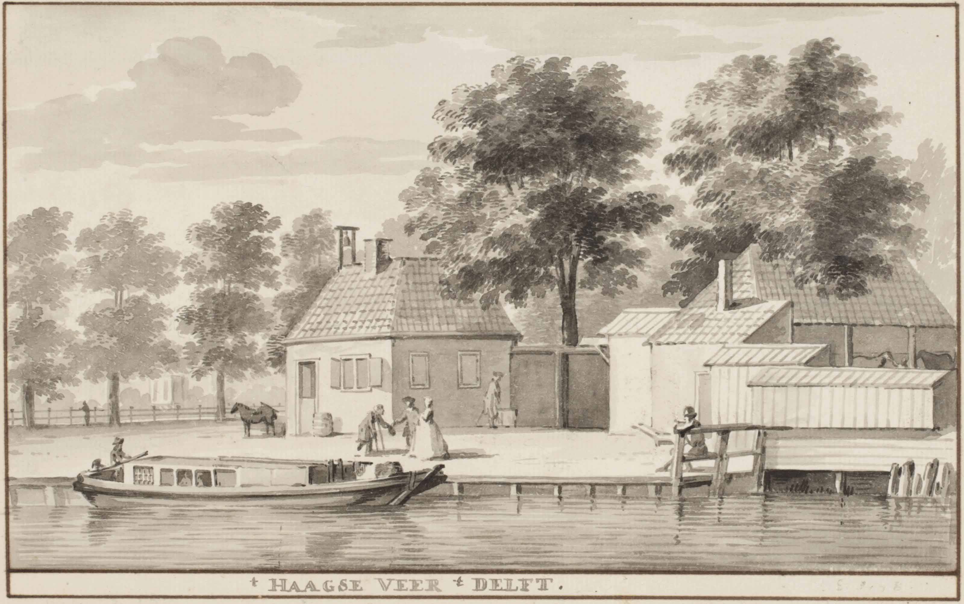 The moorings in Delft for the ferry to The Hague