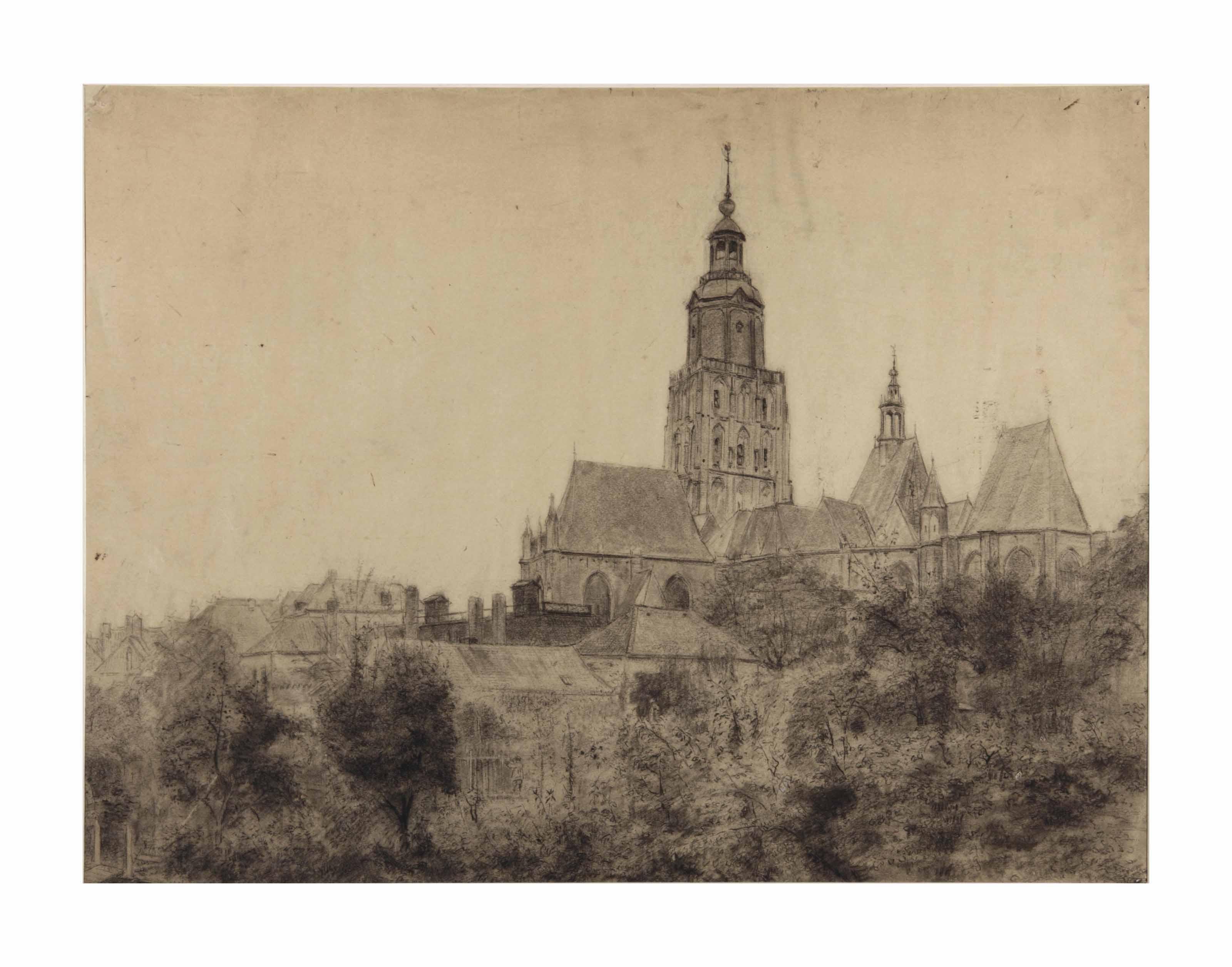 View of Sint Walburgiskerk, Zutphen