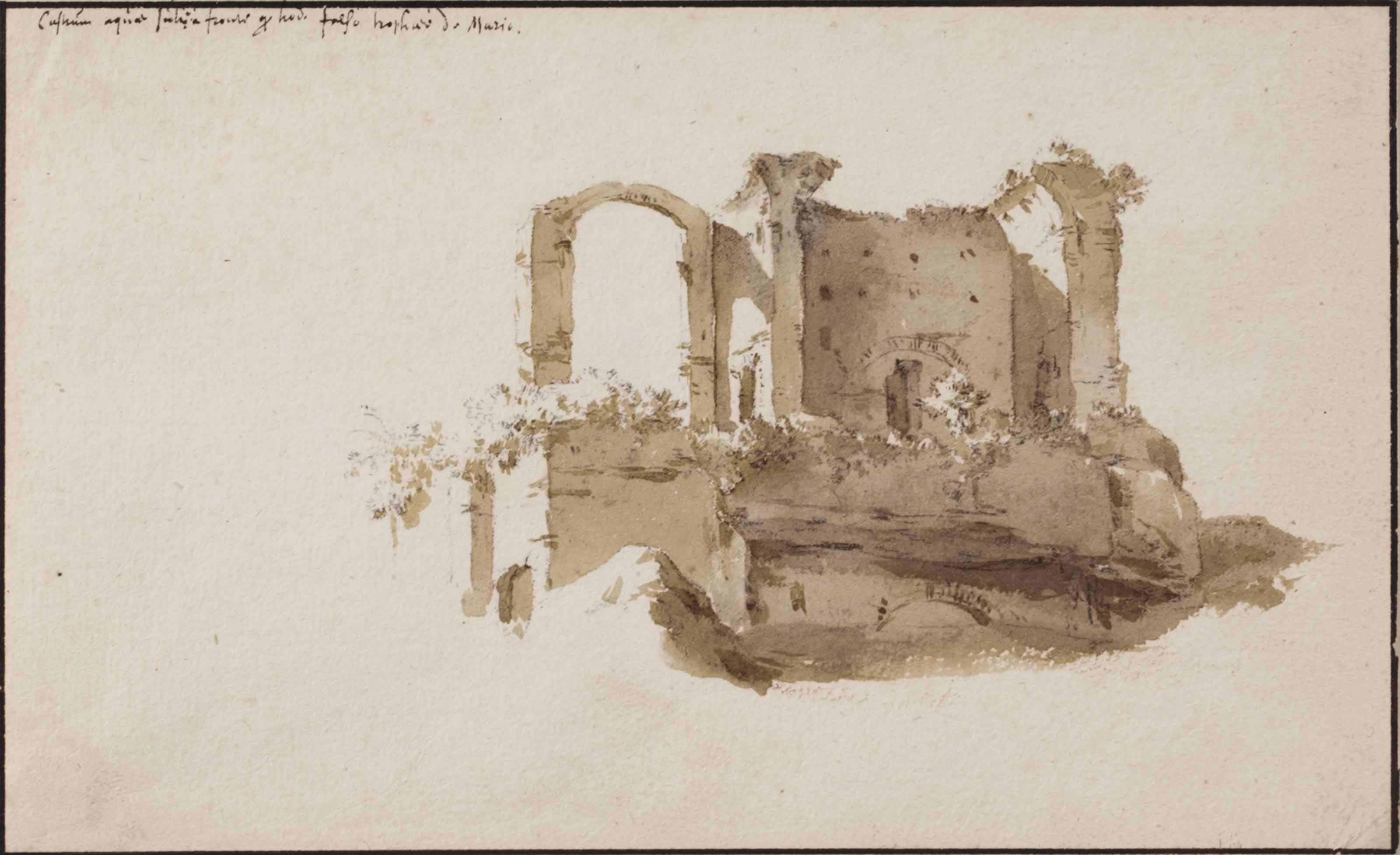 View of the Temple of Marius, Rome
