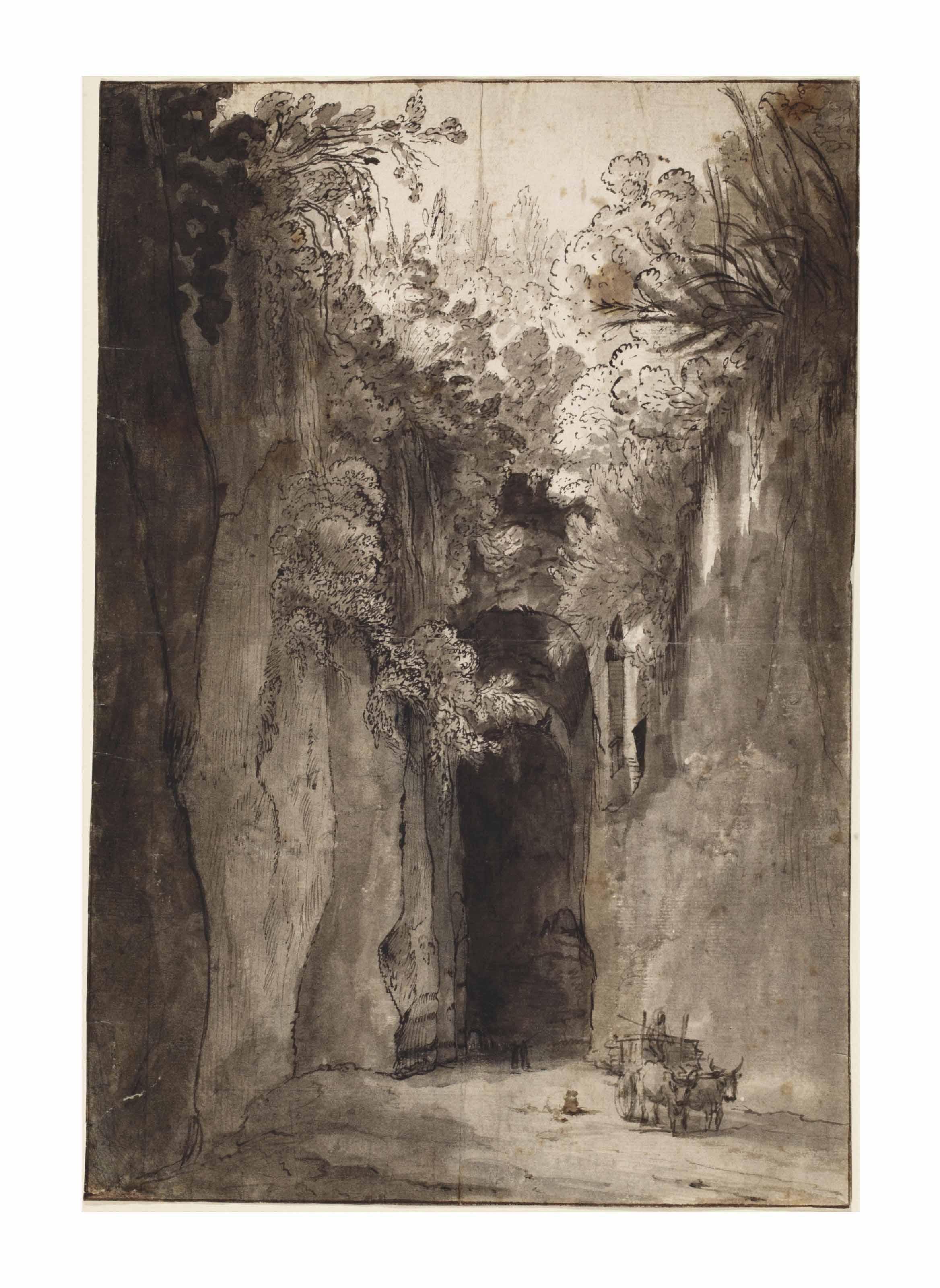 The Grotto of Virgil near Posillipo