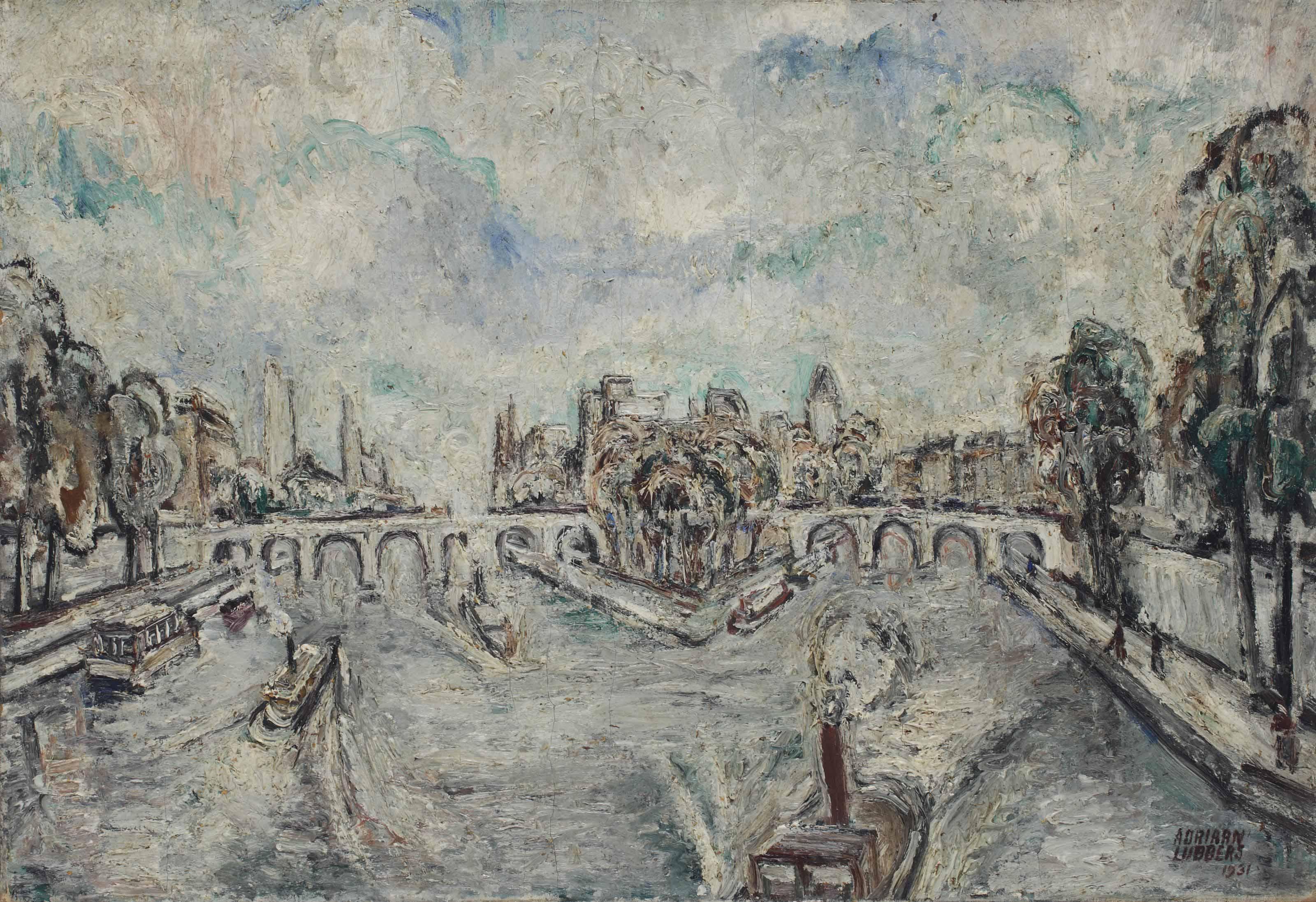 Ile de la Cité with the Pont Neuf, Paris