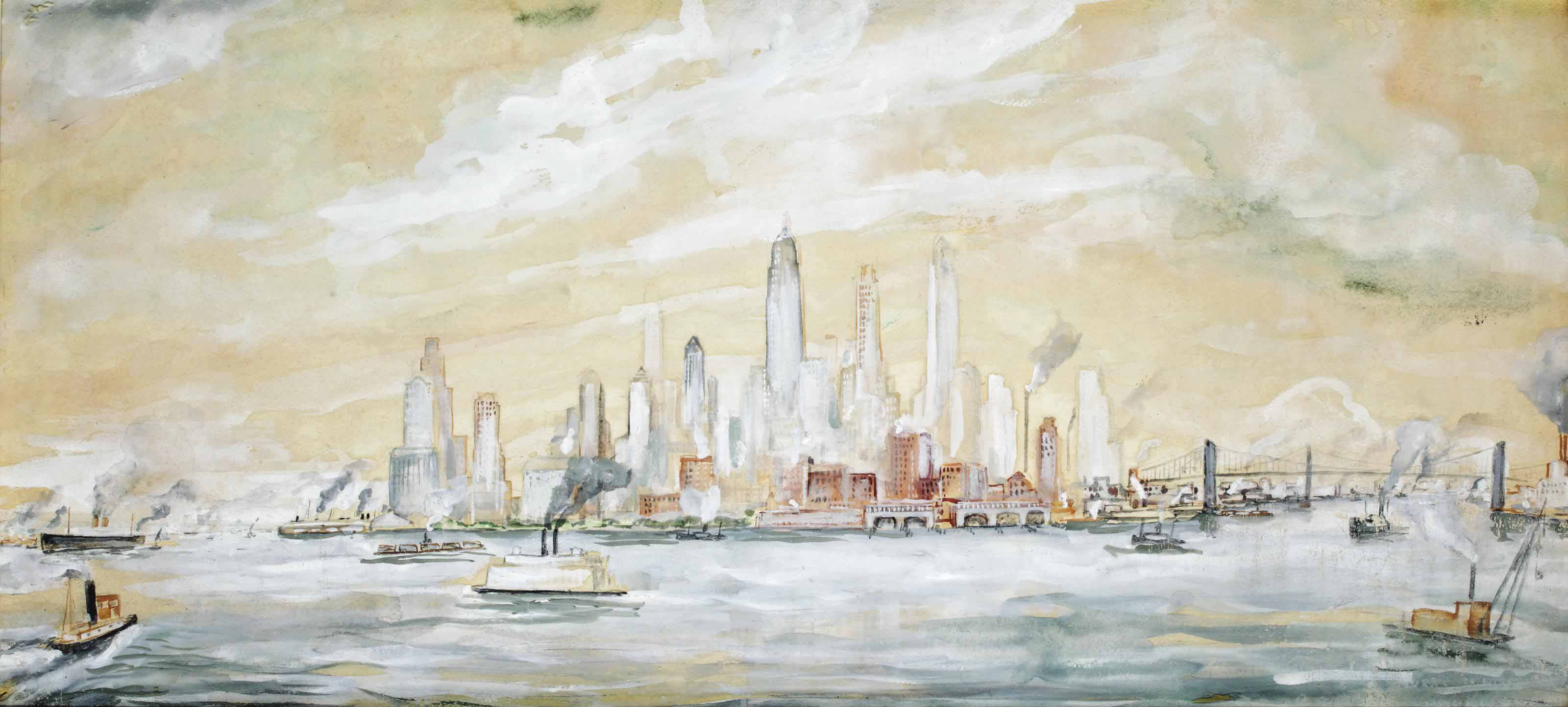 New York seen from Governors Island